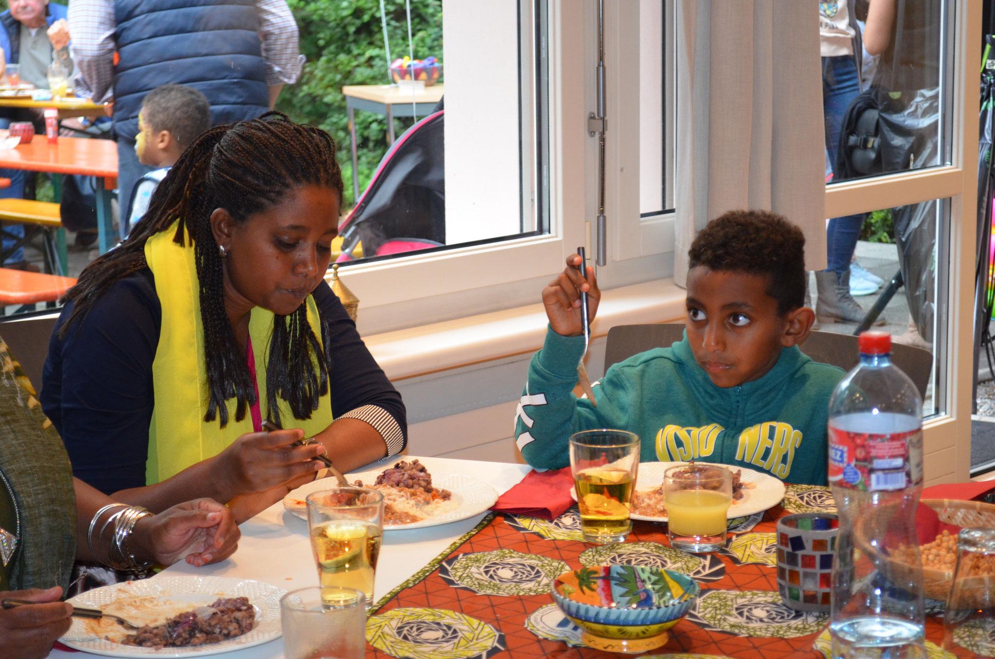 Schön, dass wir auch ein paar afrikanische Gäste besuchen durften.