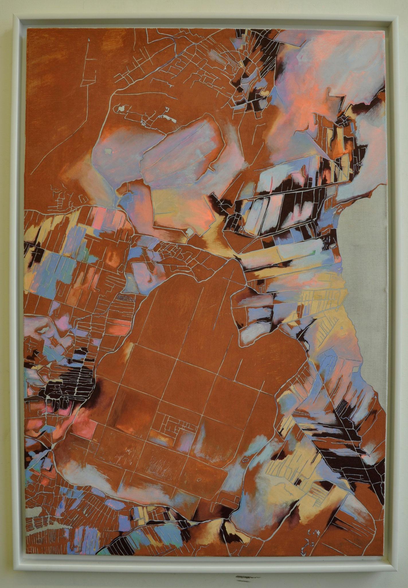 De Beemster, 65 x 95 cm incl witte lijst