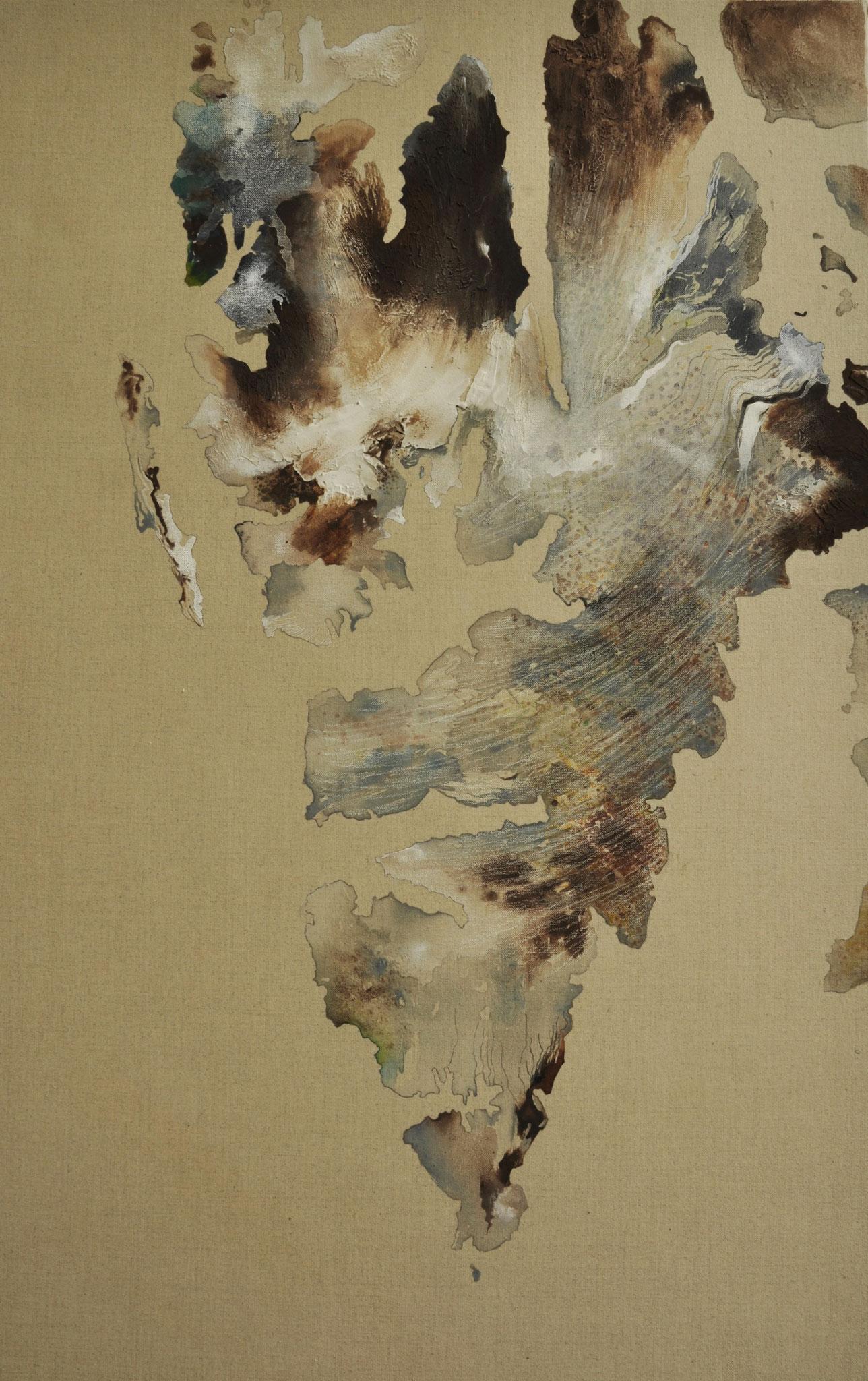 Spitsbergen, 55 x 75, gouache en potlood op linnen