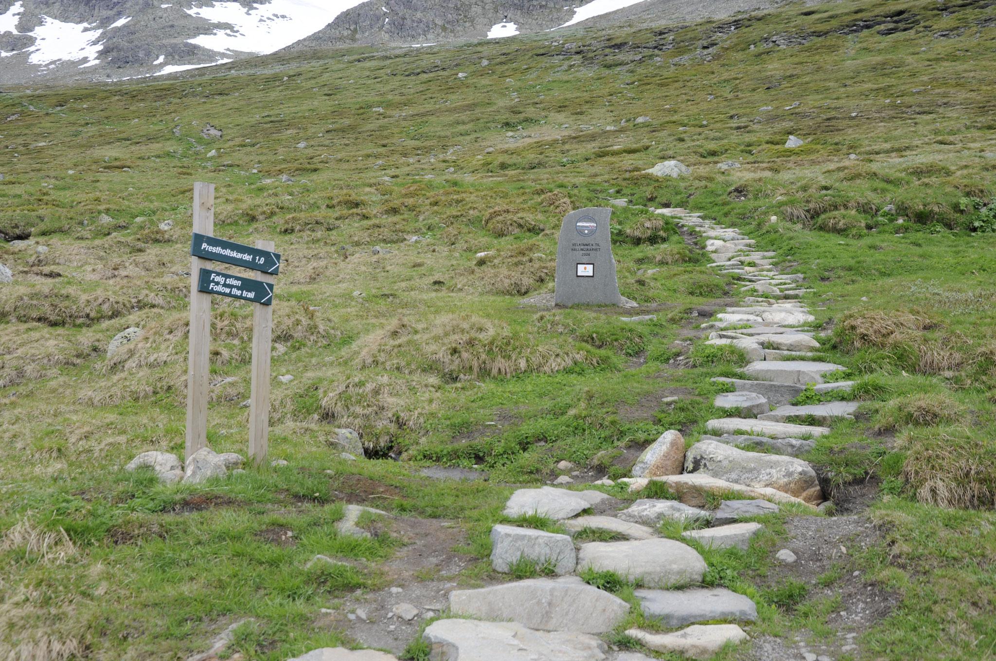 Treppe von Sherpas gebaut