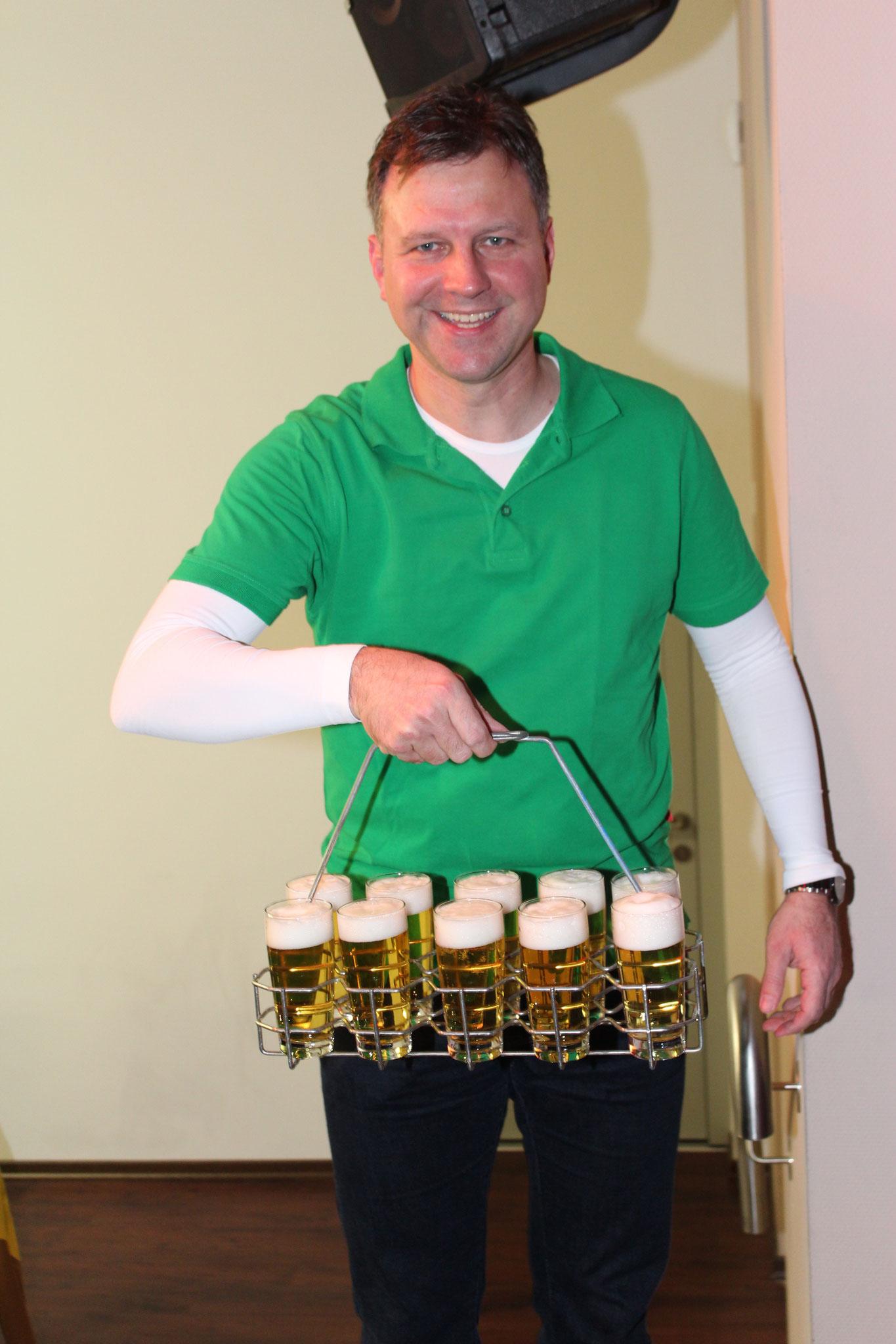 Immer frisch gezapftes Bier