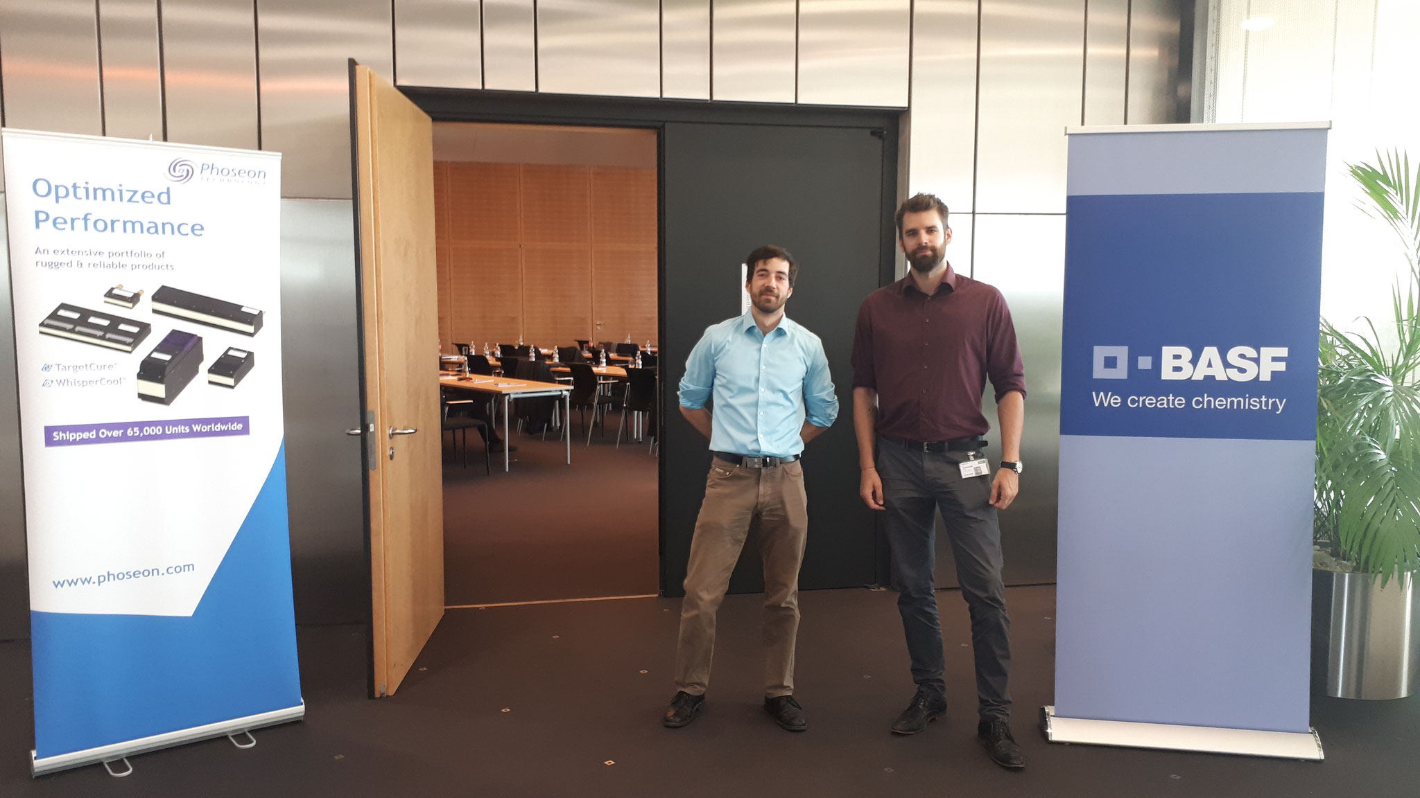 TeBeS Team during BASF Led technology conference in Ludwigshafen, 2018