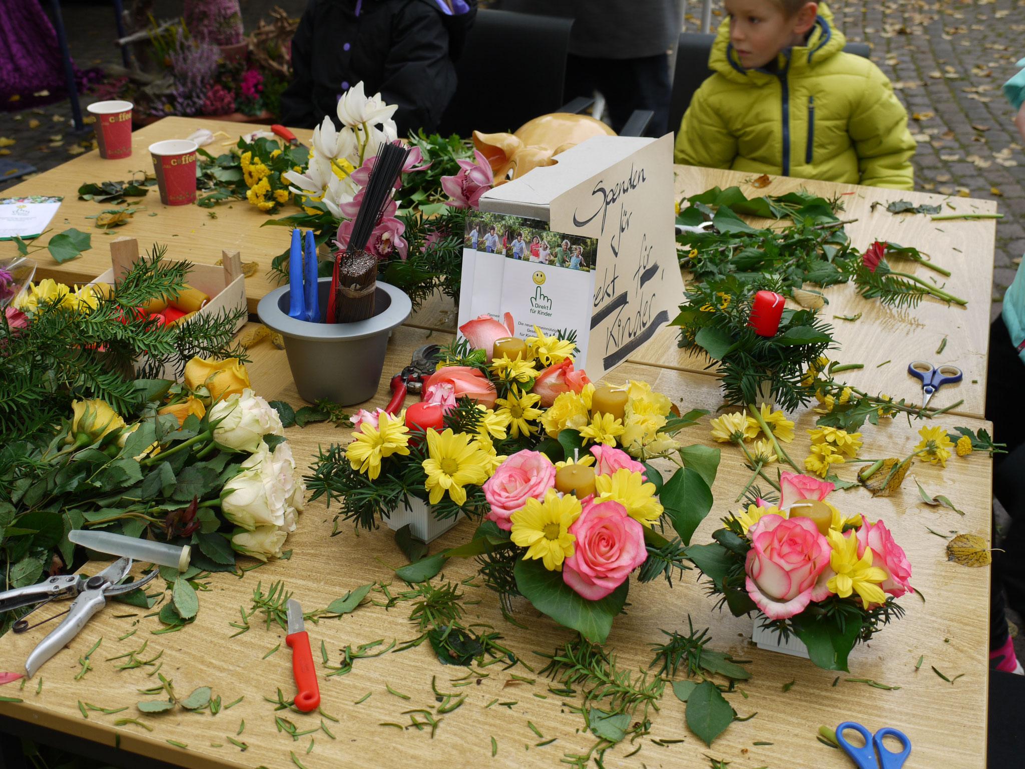 Blumenhäuser in Spenden-Aktion
