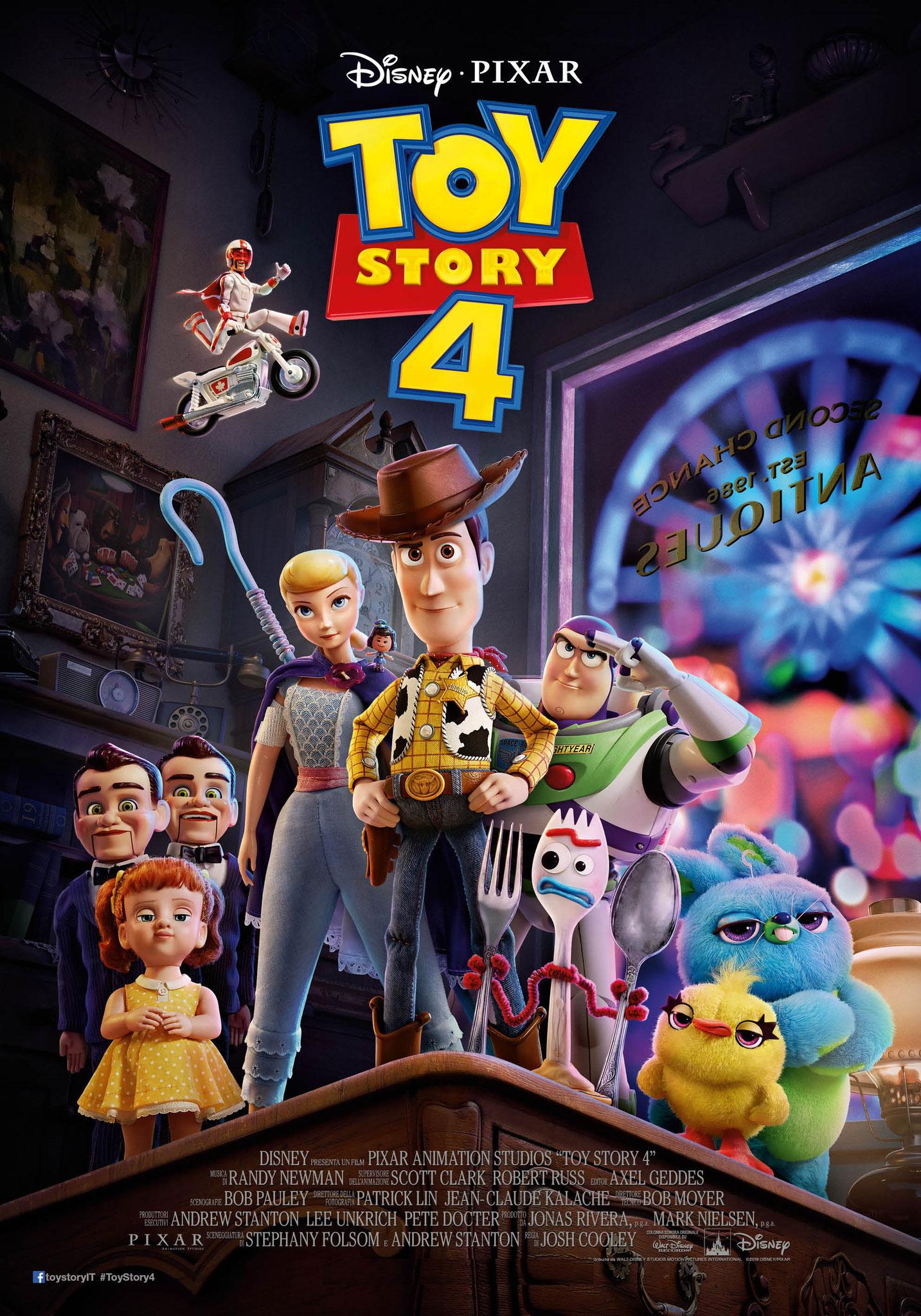 TOY STORY 4 lunedì 22, martedì 23, mercoledì 24, giovedì 25, lunedì 29, martedì 30, mercoledì 31: ore 21:15 #ToyStory4
