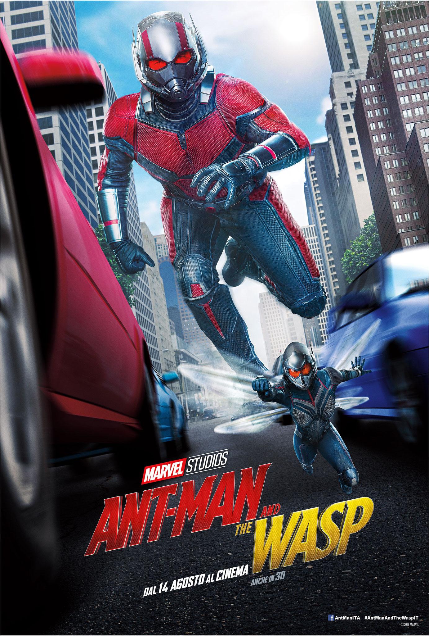 ANT-MAN and the WASP ore 18,30   venerdì 24, sabato 25, domenica 26, lunedì 27 #AntManAndTheWaspIT