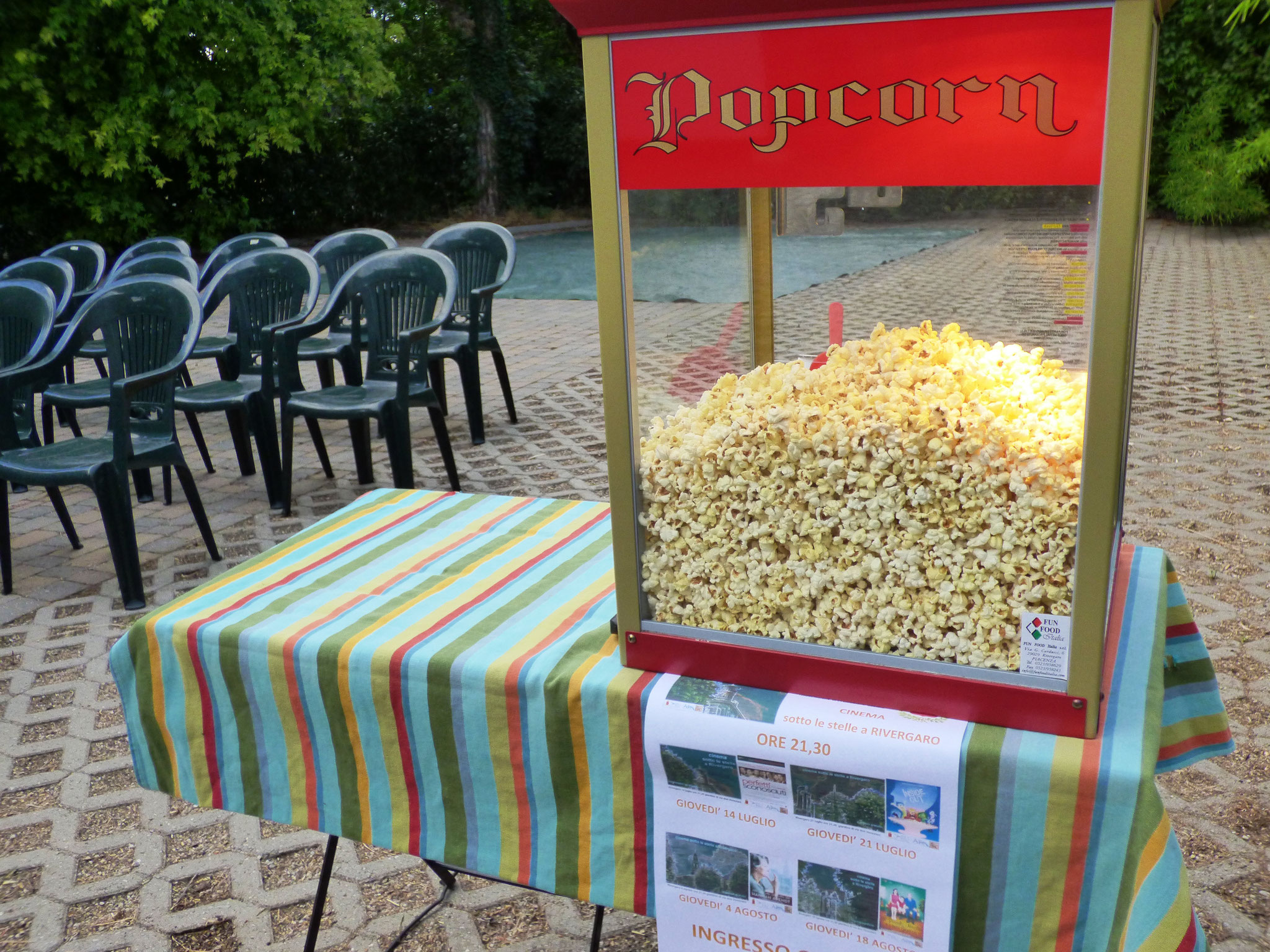 Cinema sotto le stelle a Rivergaro luglio 2016