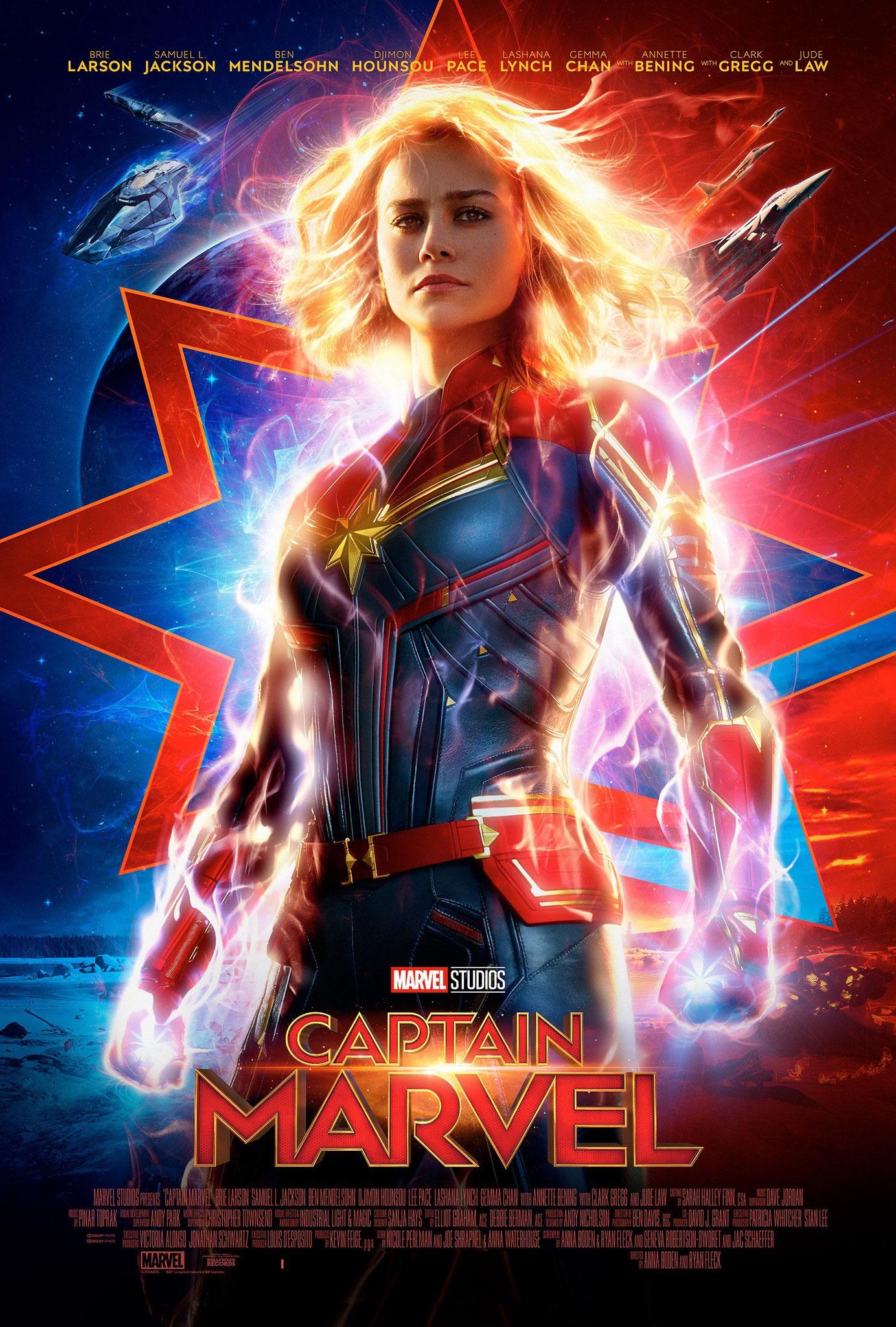 CAPTAIN MARVEL venerdì 29: ore 21:15 sabato 30: ore 16:15 domenica 31: ore 16:15 – 21:15 #CaptainMarvel