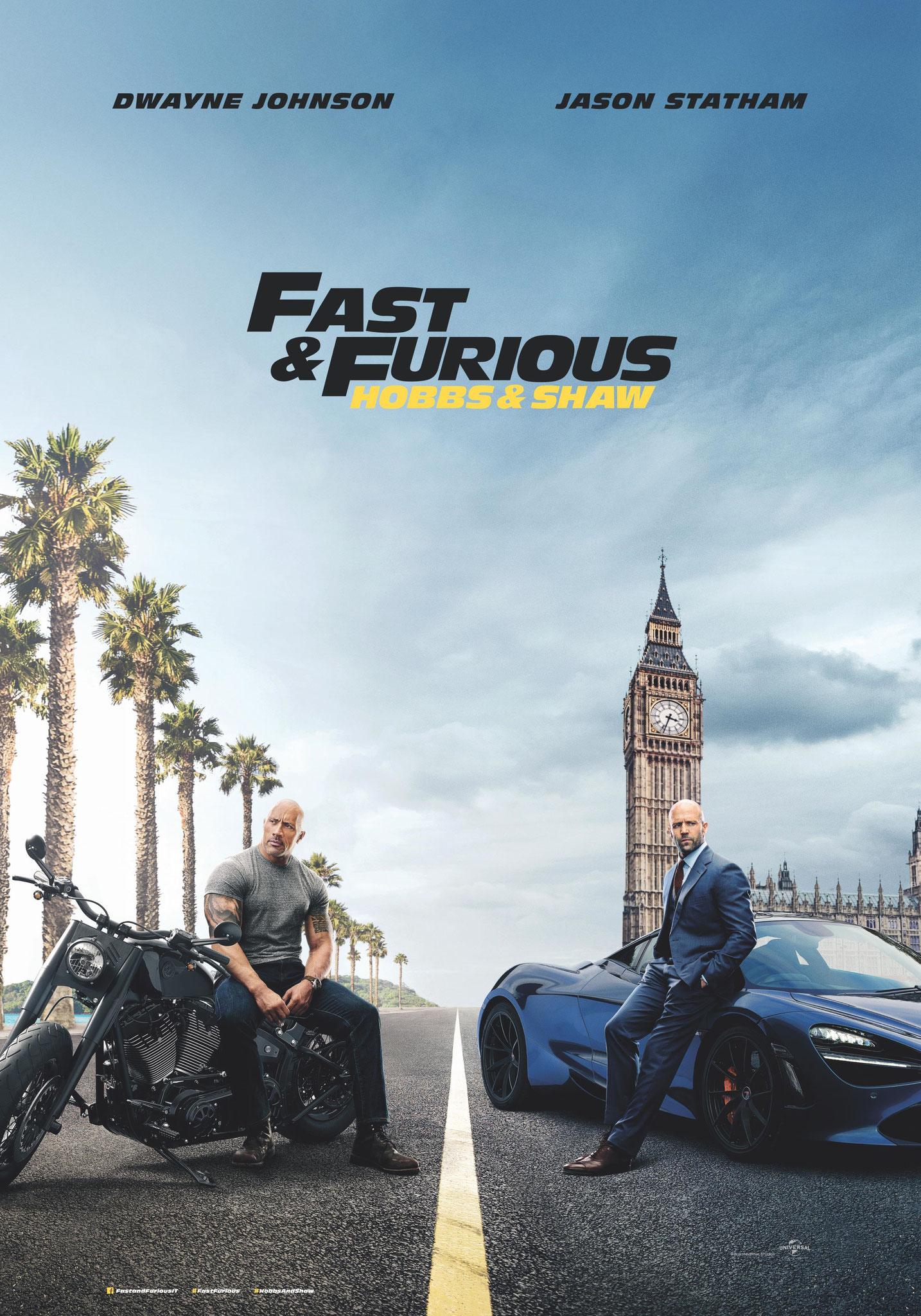 FAST & FURIOUS - HOBBS & SHAW venerdì 9, sabato 10, domenica 11, lunedì 12, martedì 13, mercoledì 14: ore 21:15 giovedì 15: ore 21:00  #FastFuriousHobbsShaw