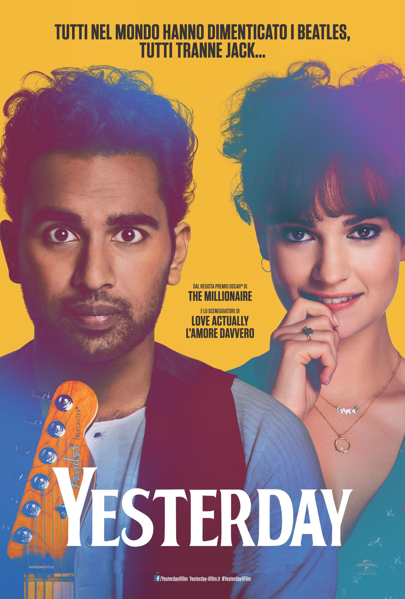 YESTERDAY giovedì 3, venerdì 4, sabato 5, domenica 6: ore 21:15  #YesterdayIlFilm