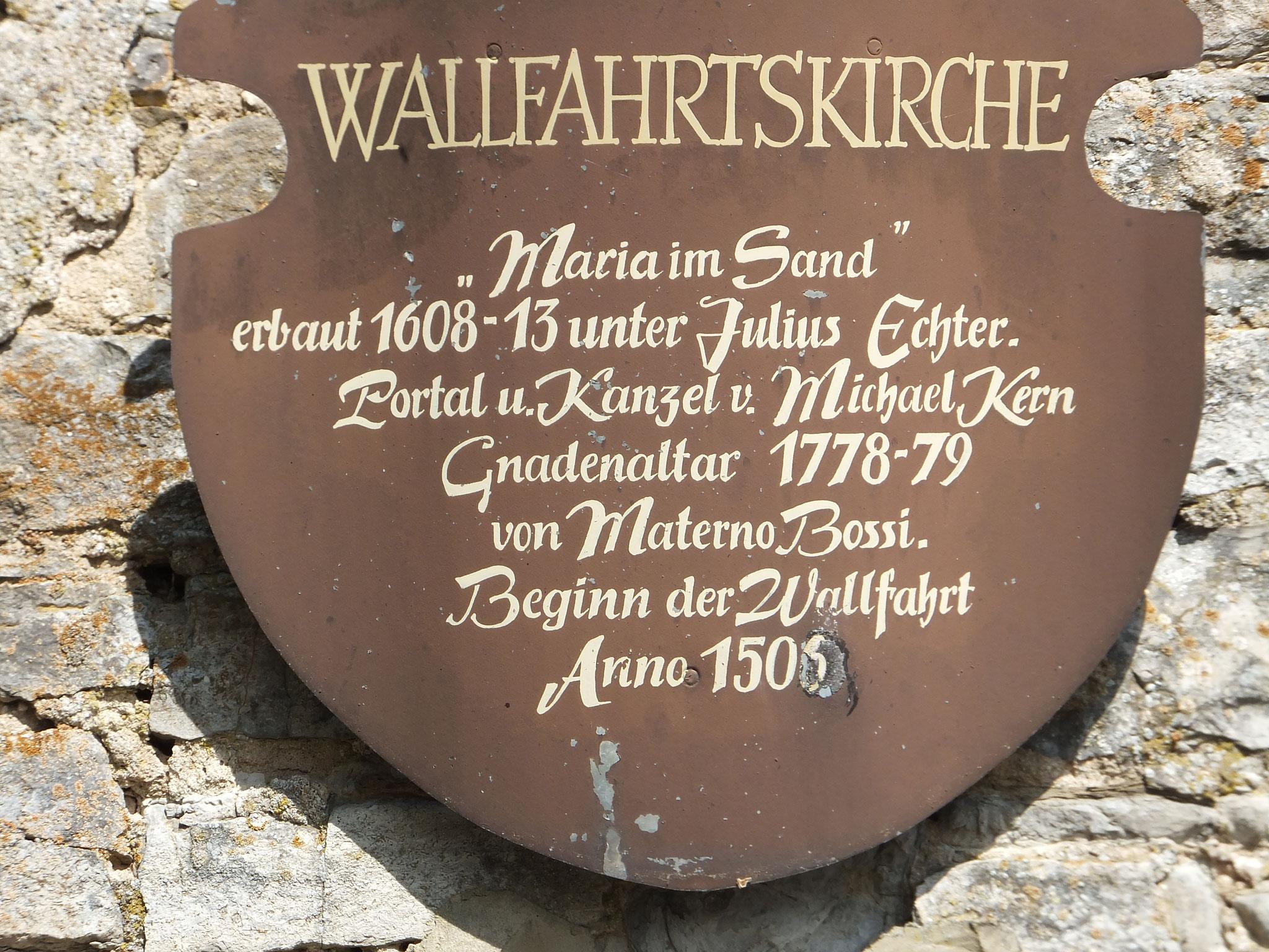 """Besuch der Wallfahrtskirche """"Maria im Sand"""""""