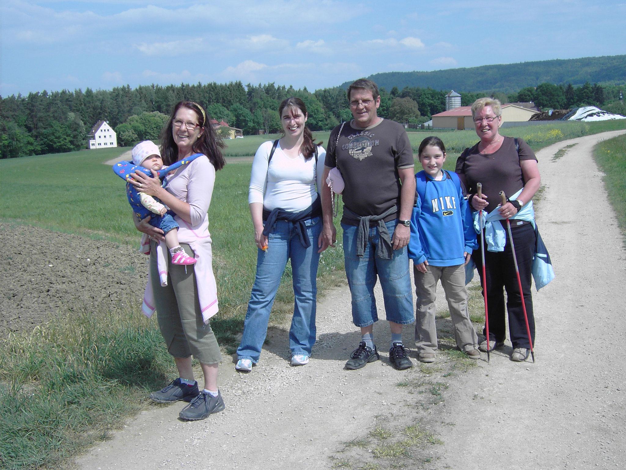 Wanderung über Serlbach zu unseren Kellern 2007