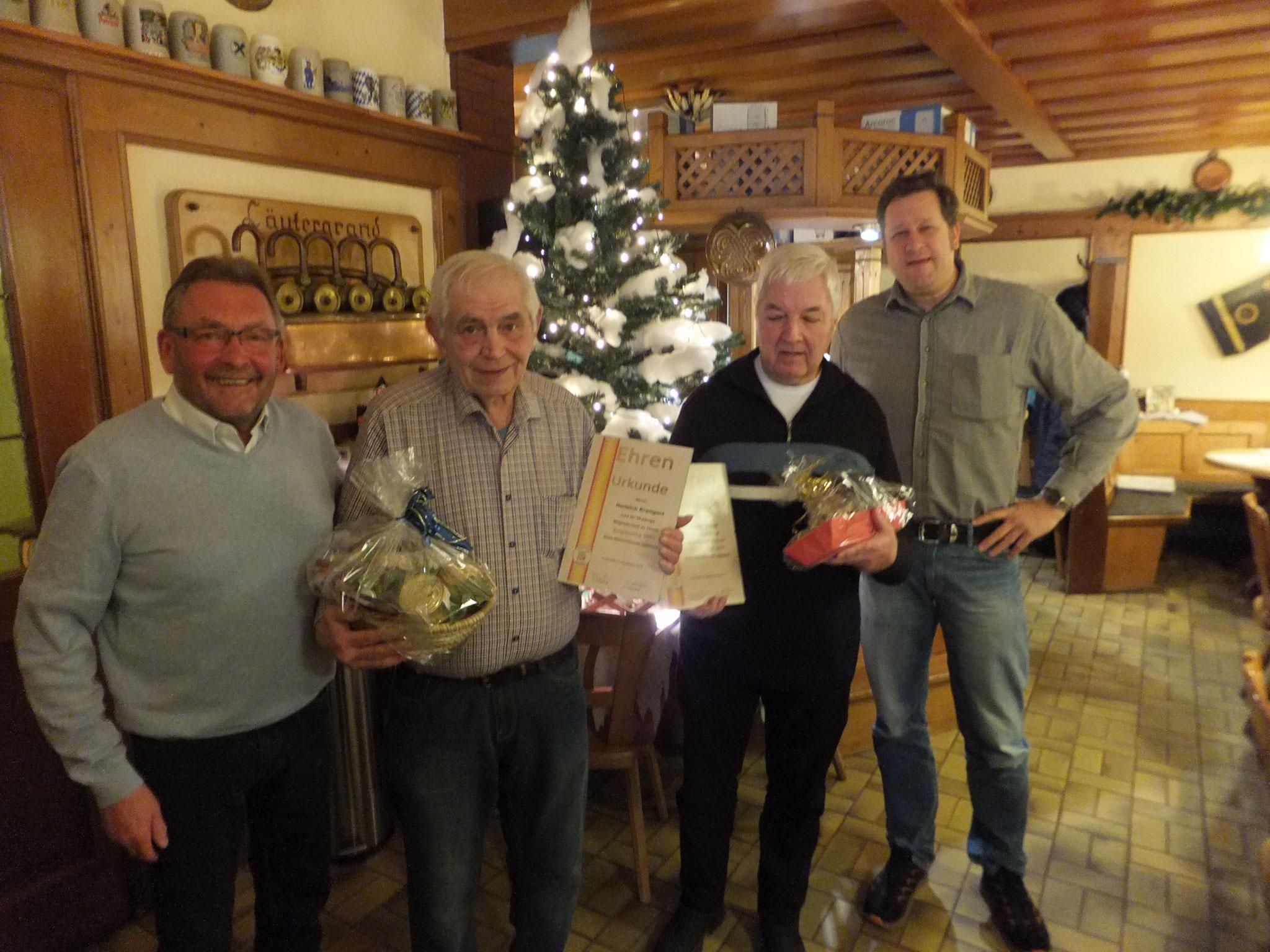 JHV 2019, Ehrung Ehrenmitglieder Heinrich Krampert und Alfred Glaser