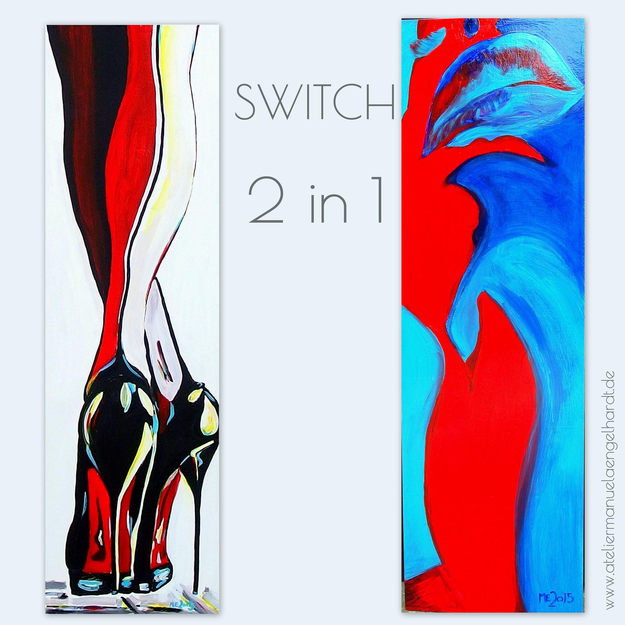 Switch-Gemälde, Acryl auf Holz - Nicht mehr verfügbar.