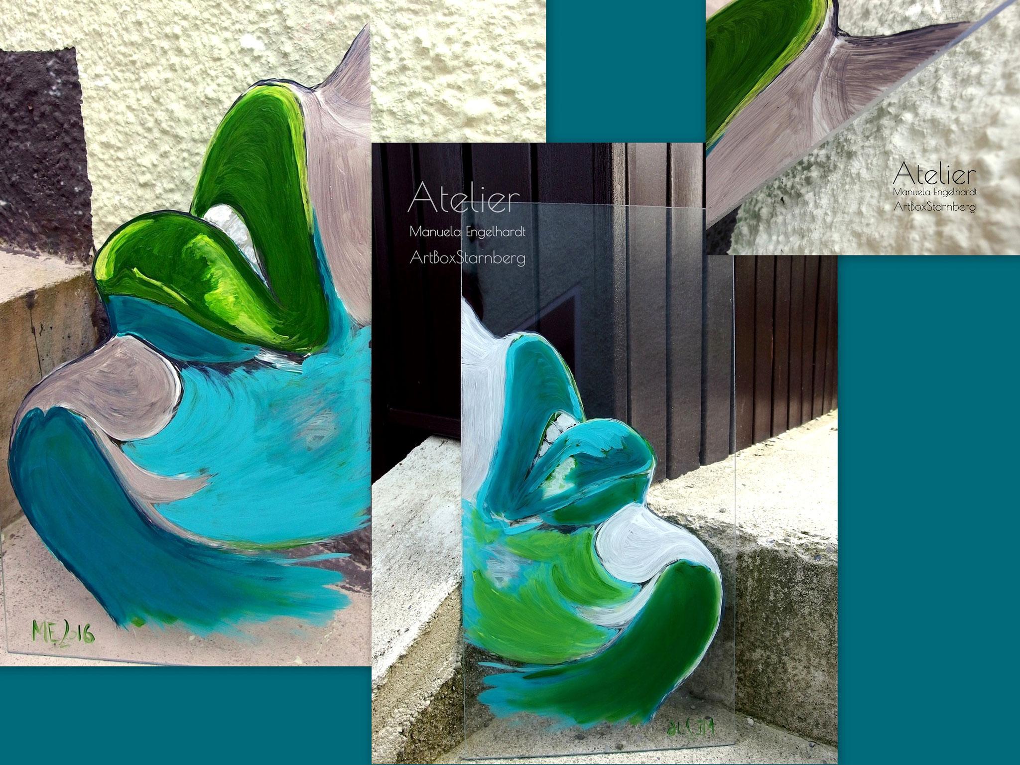 Acryl auf Acrylglas