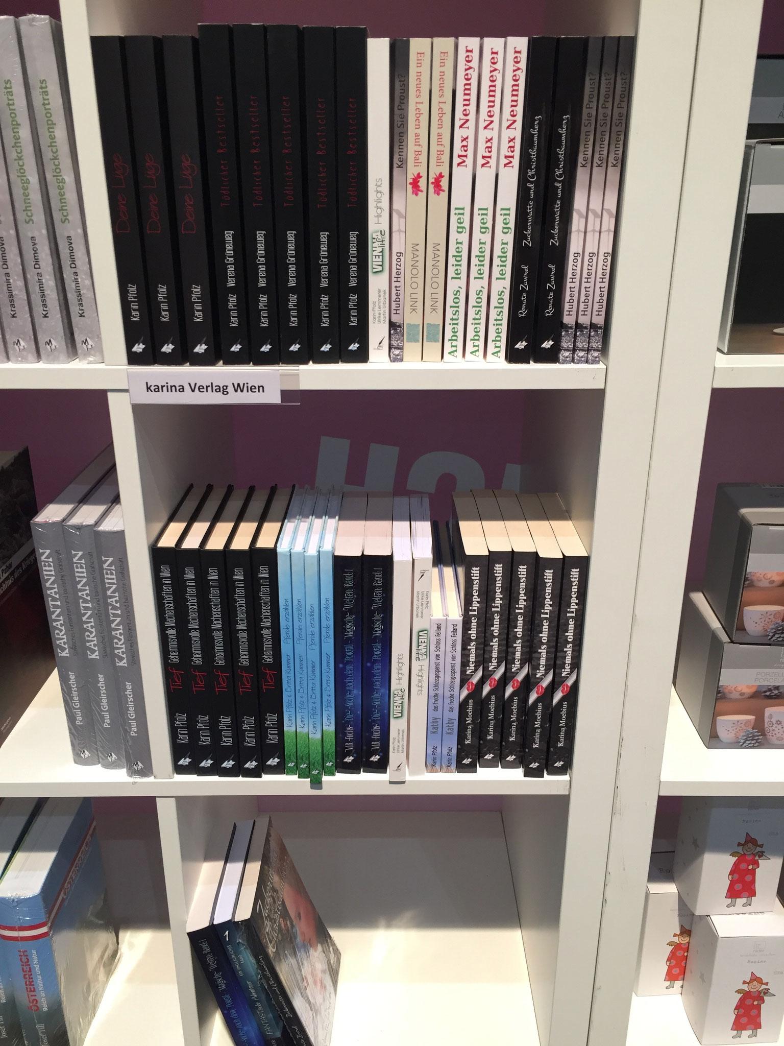 Die Verlagsbücher in der Messebuchhandlung (Thalia)