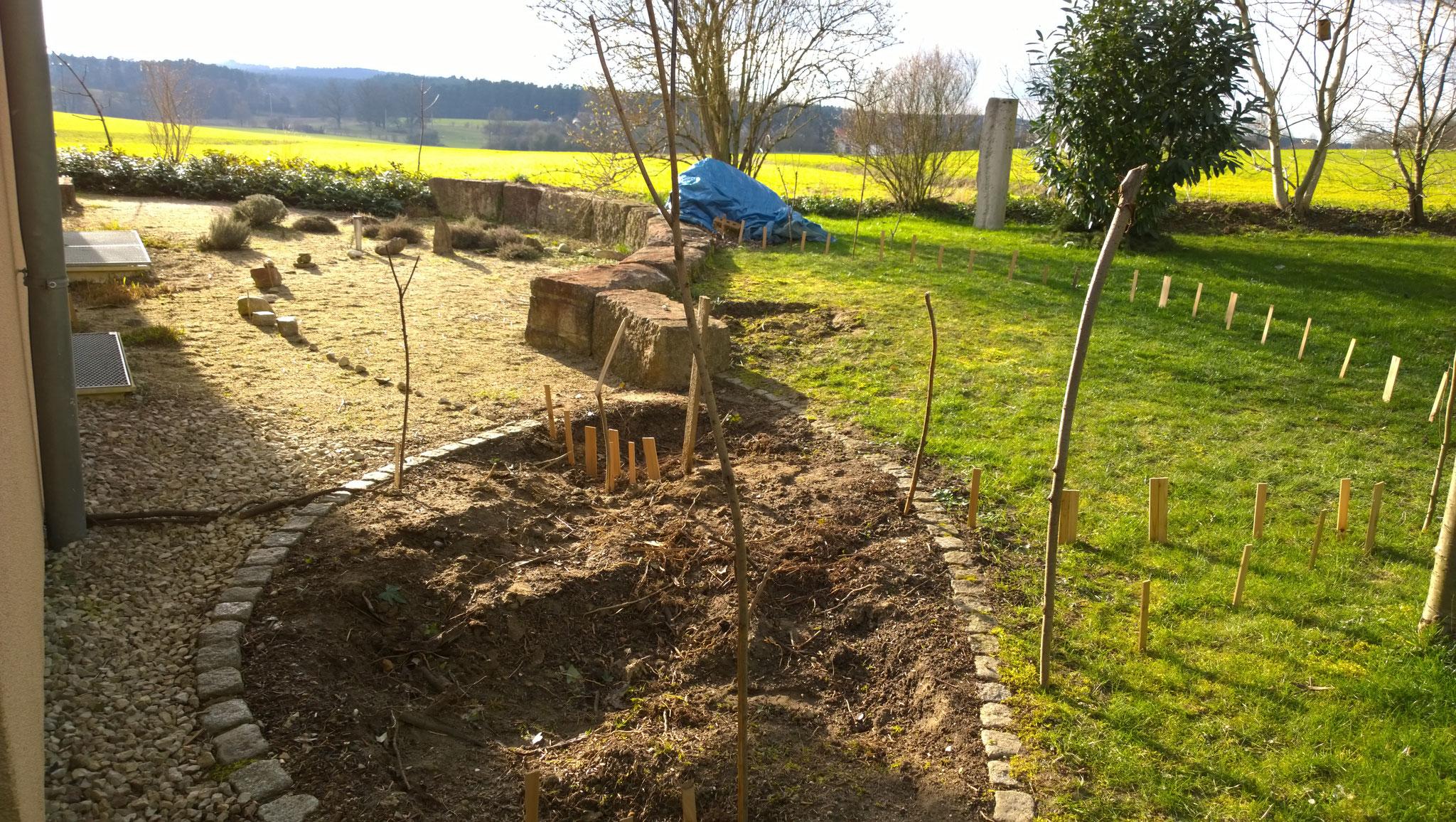 der Garten ist vorbereitet
