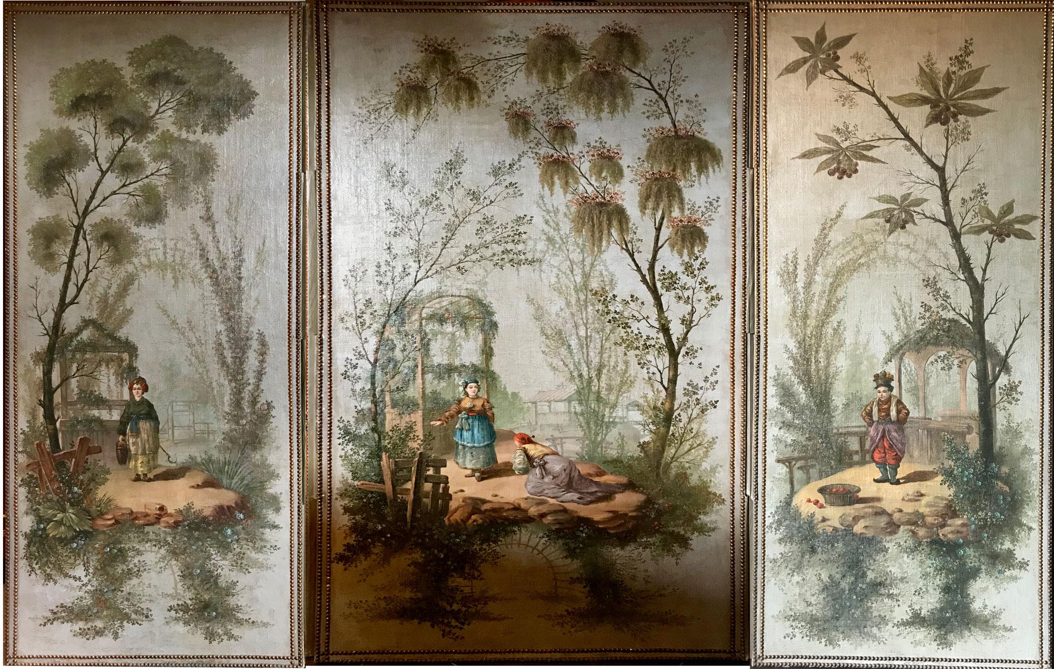 Paravent, Anonyme, XIXe siècle