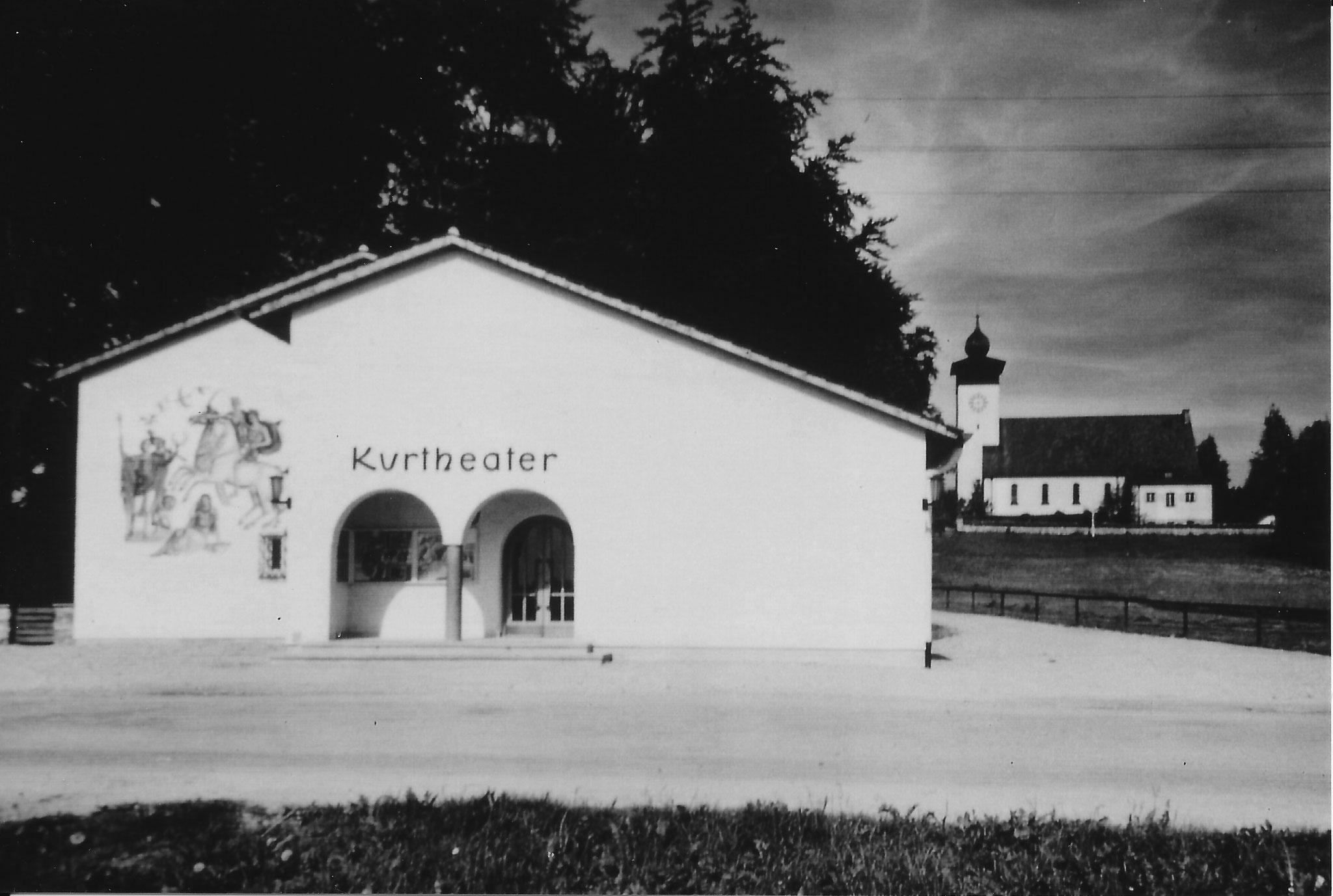 """""""KurTheater"""" (Kino) in Tutzing, Foto um 1960"""