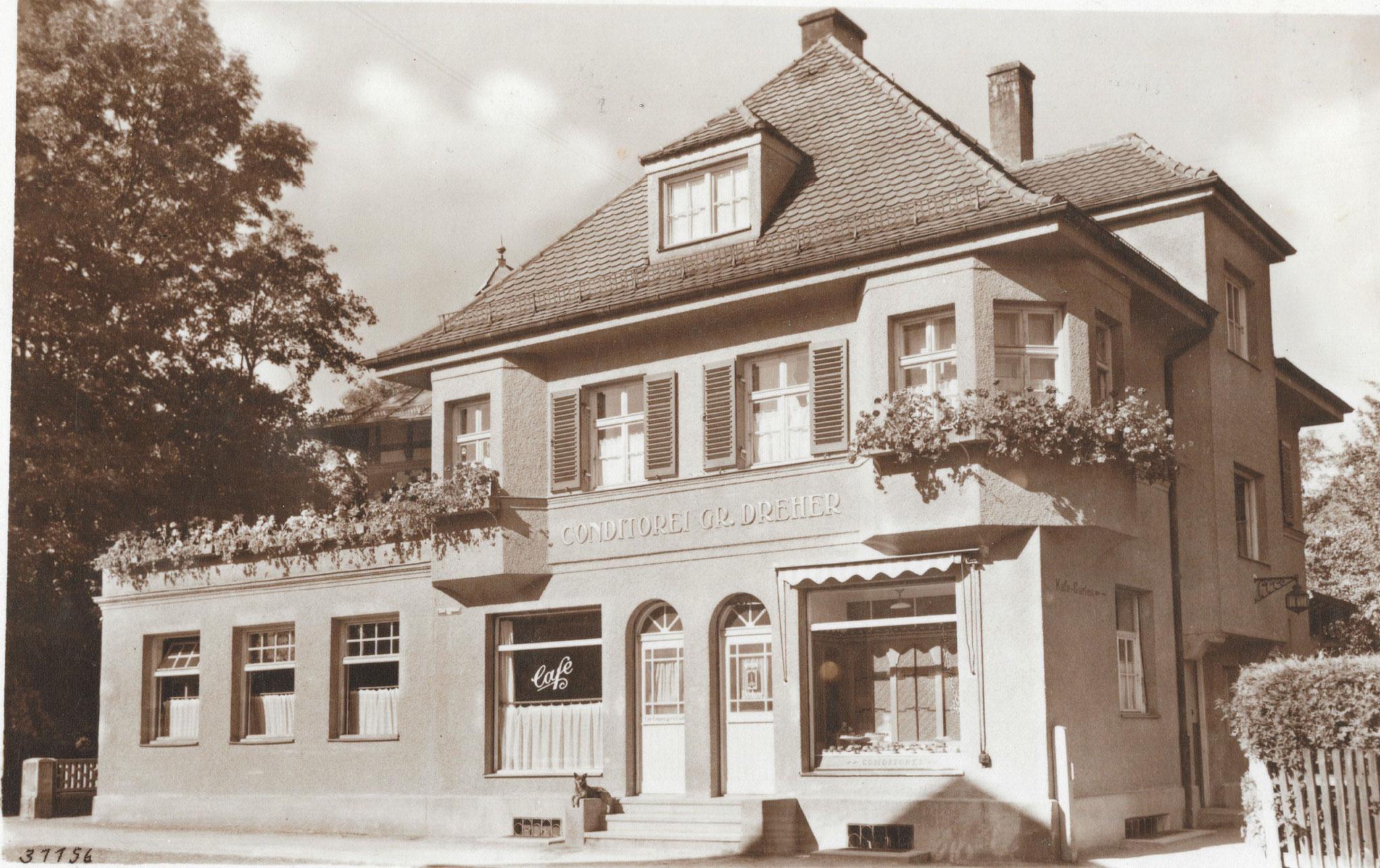 Konditorei Dreher (Hofmair) Tutzing, Foto um 1930