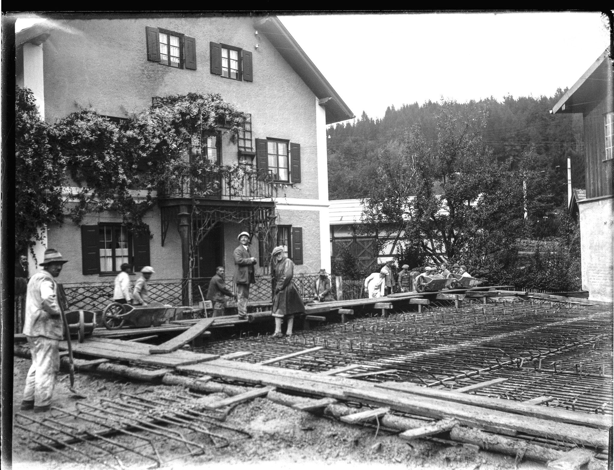Baustelle Lederfabrik Müller & Wilisch Feldafing, Foto 1934