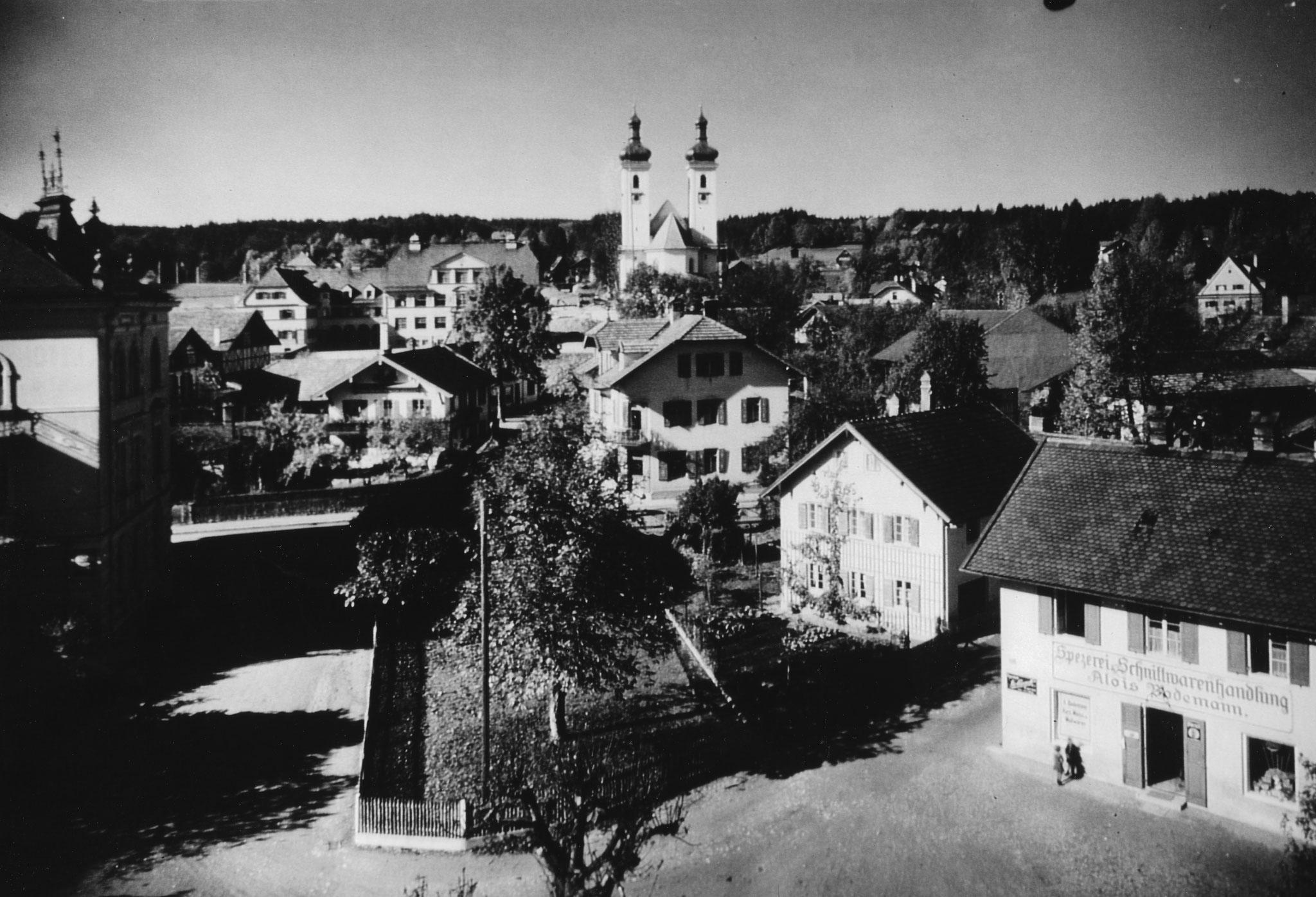 Ortsmitte Tutzing, Foto um 1900
