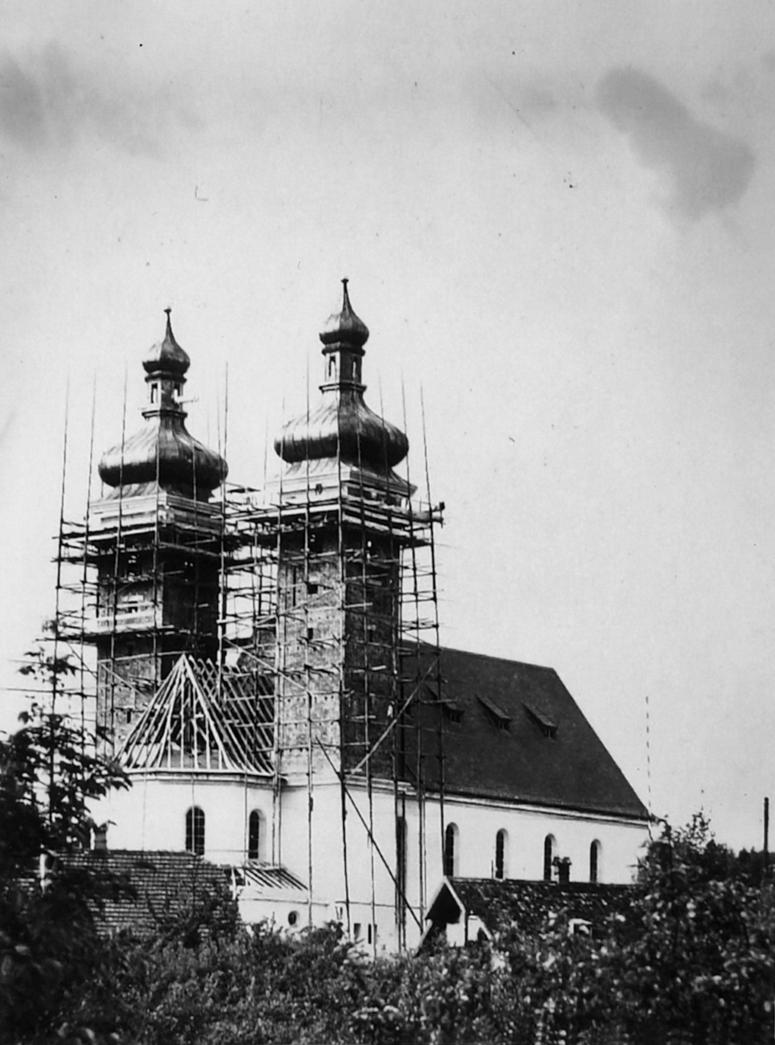Pfarrkirche St. Joseph im Bau, Foto 1927