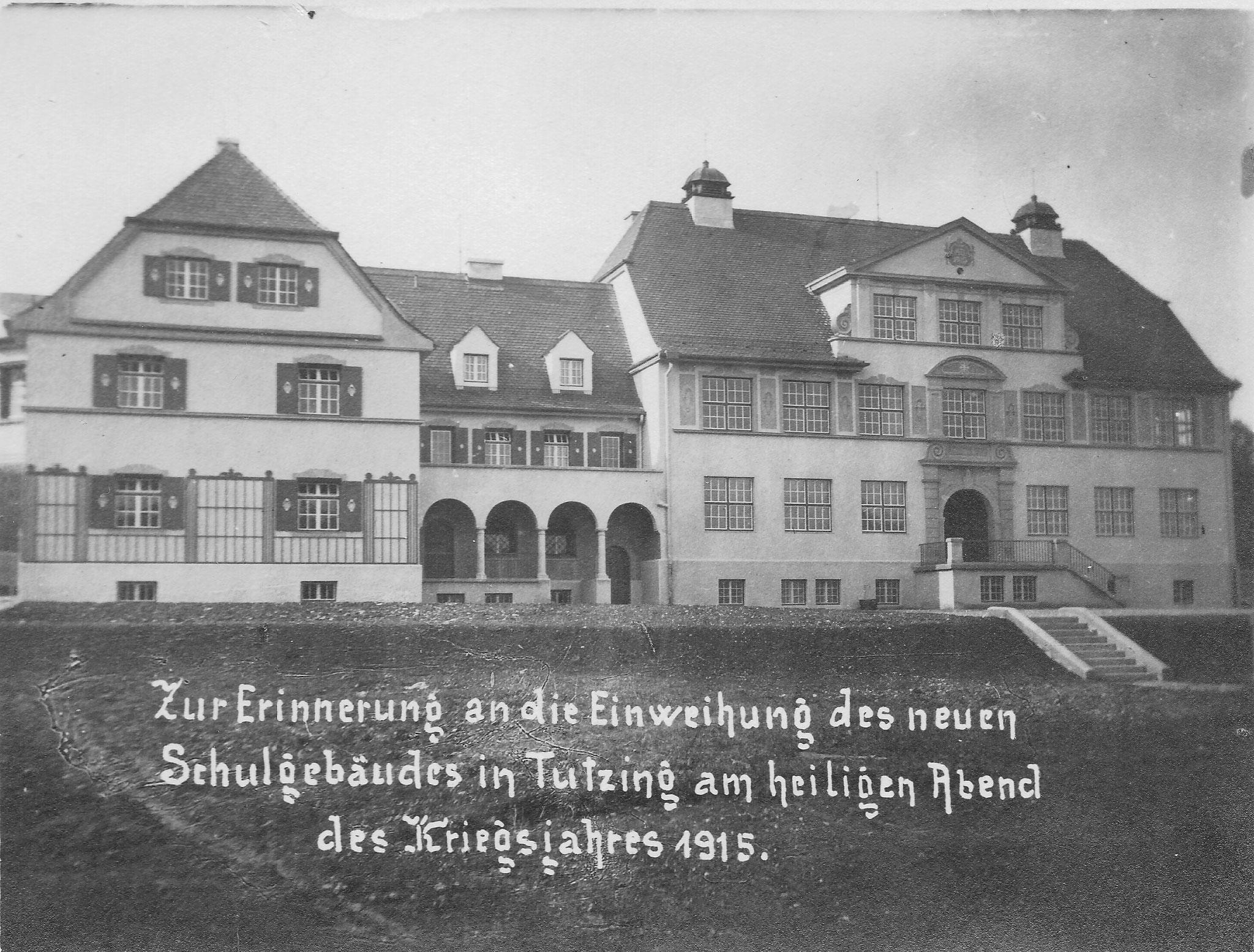 Schulhaus Tutzing, Einweihung 1915