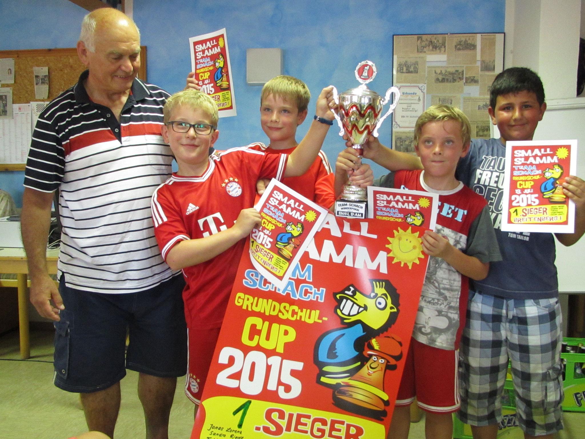 1. Sieger GS Breitenberg 1 - Nach dreimaligen Gewinn in Folge bleibt der Wanderpokal in Breitenberg. Gratulation!!