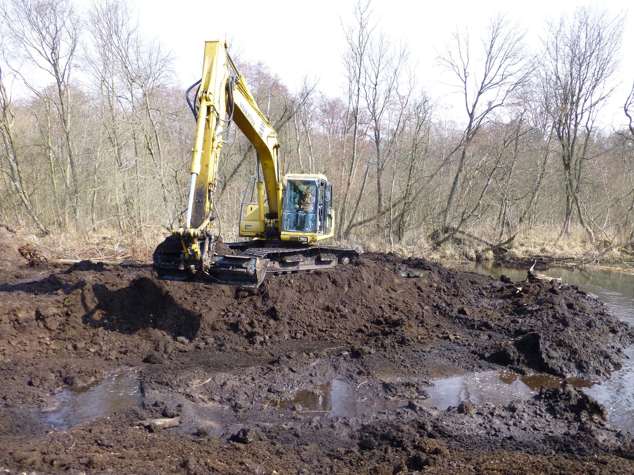 Baggerarbeiten zur Schaffung eines neuen Gewässerprofils (2013)