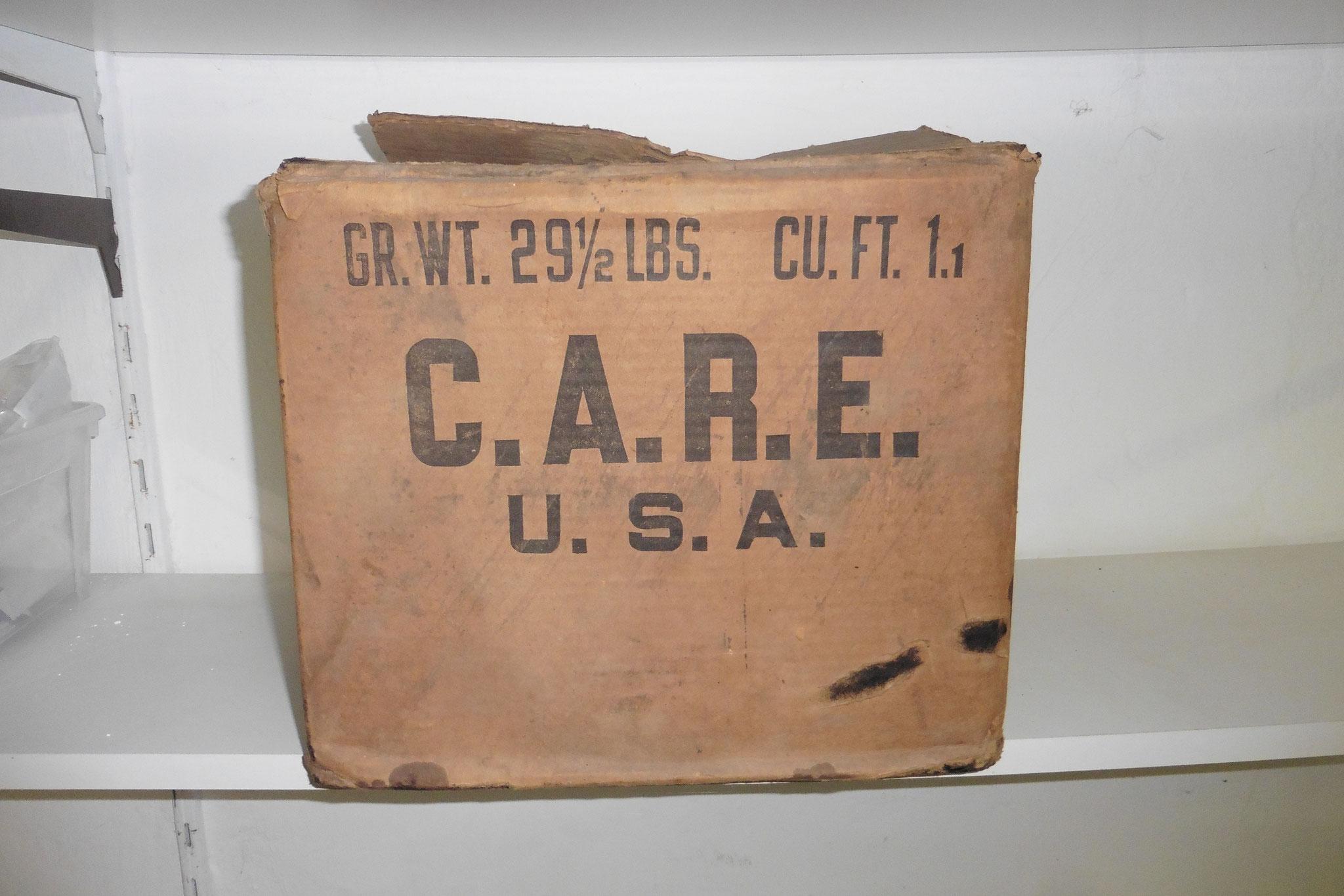 CARE Paket aus der Nachkriegszeit