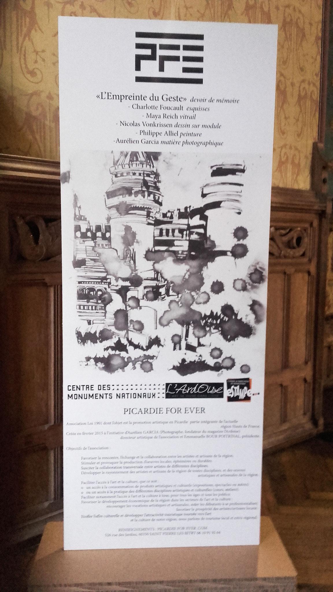 """Expo """"L'empeinte du geste"""", château de Pierrefonds, 2017/2018"""