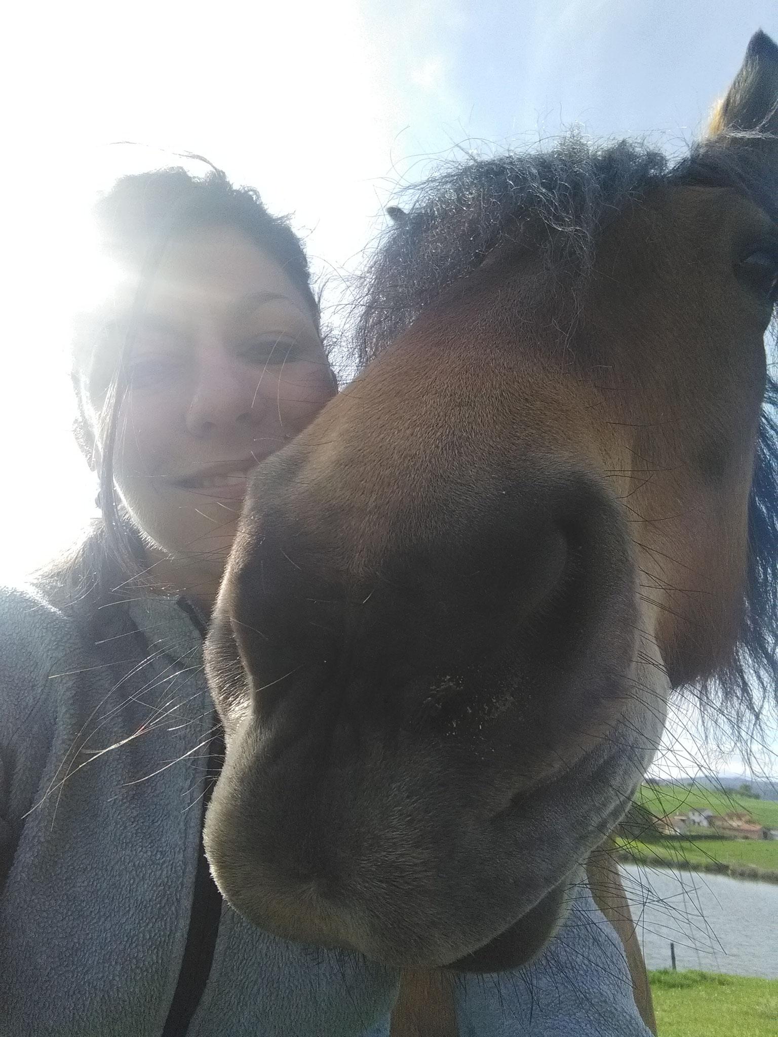 Celtic et Claire en selfie
