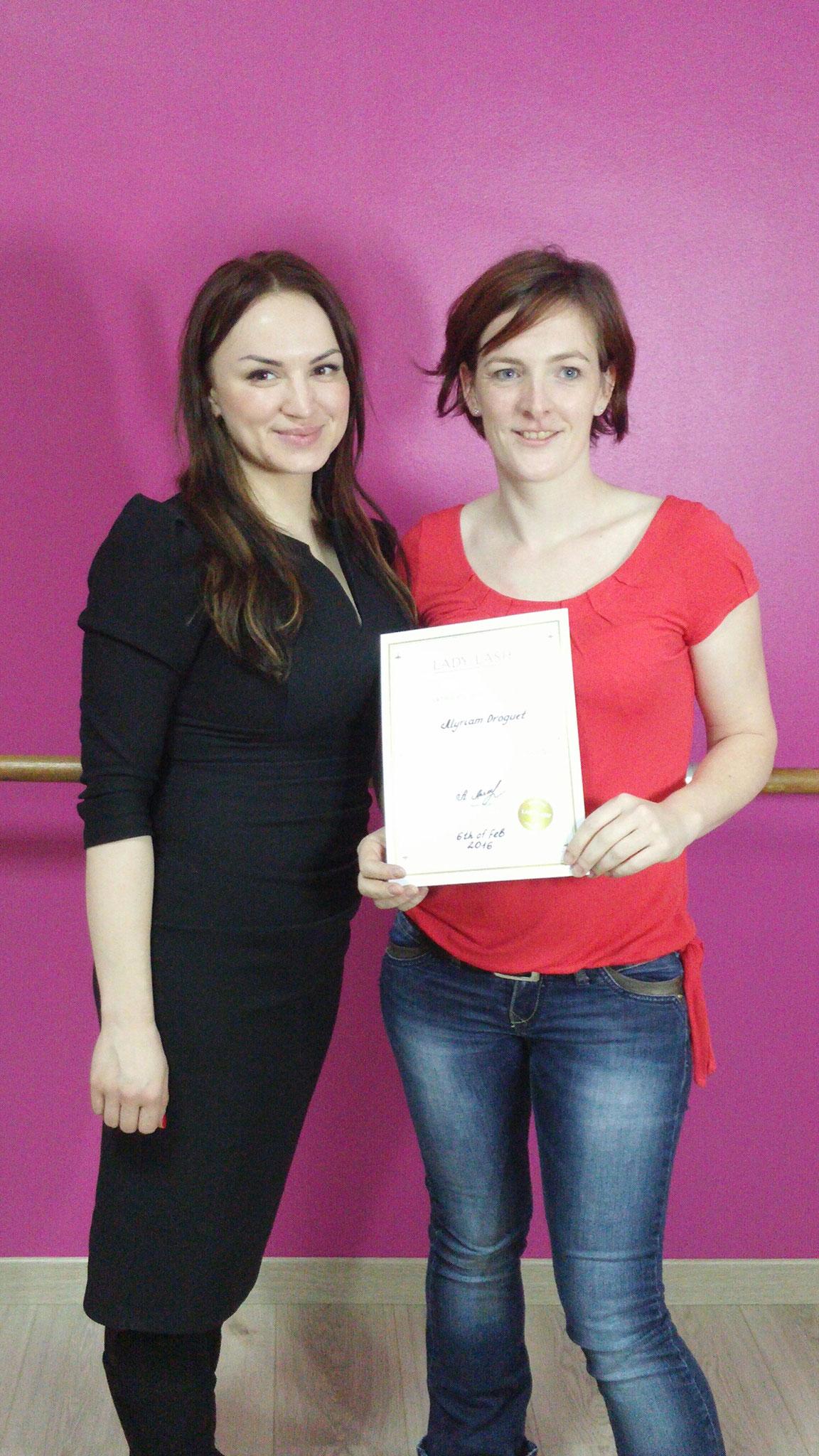 formation avec Hanna PUTJATO créatrice de la marque London Lash