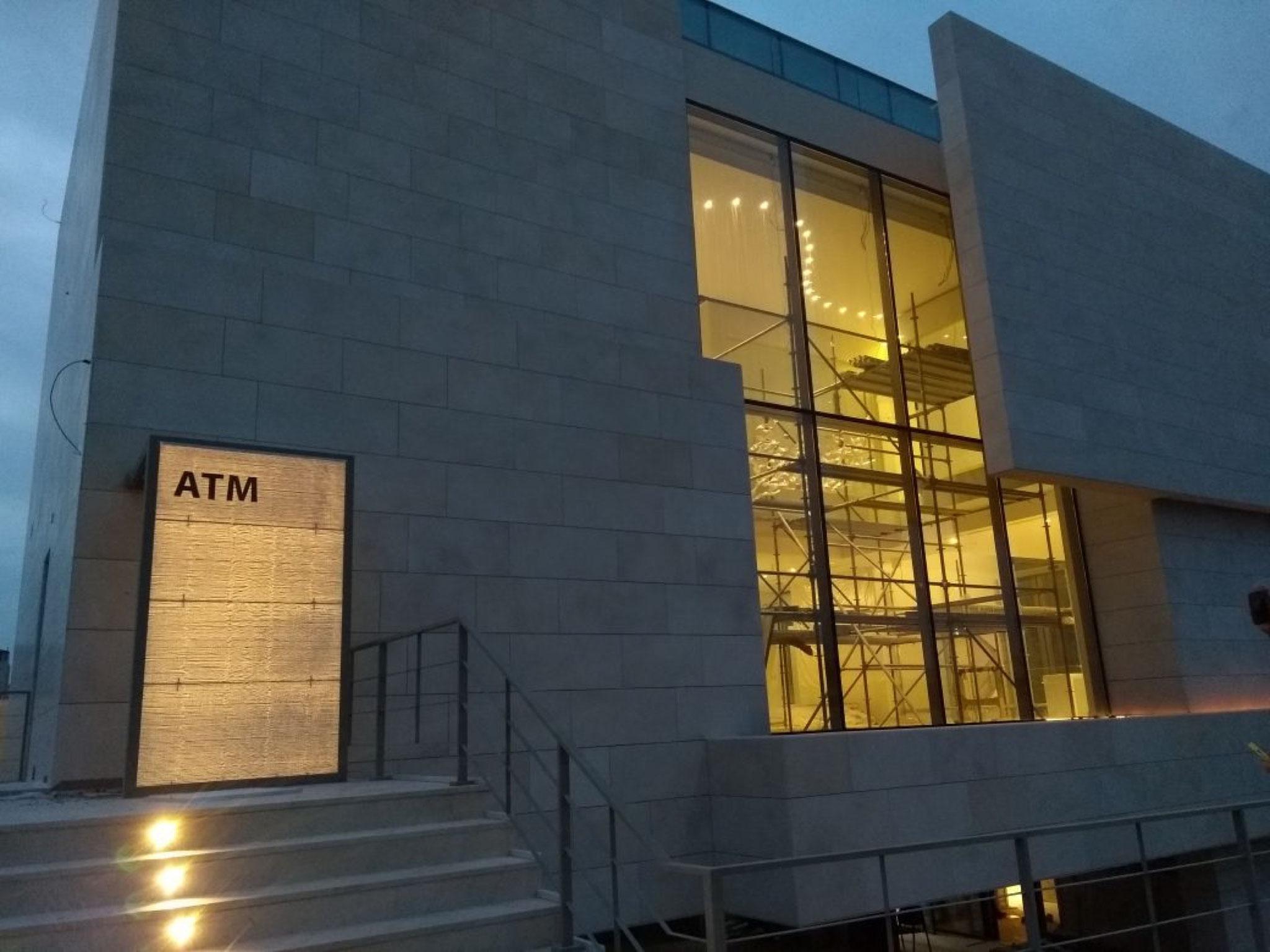 Atm Möbel capital bank branch amman lucem lichtbeton