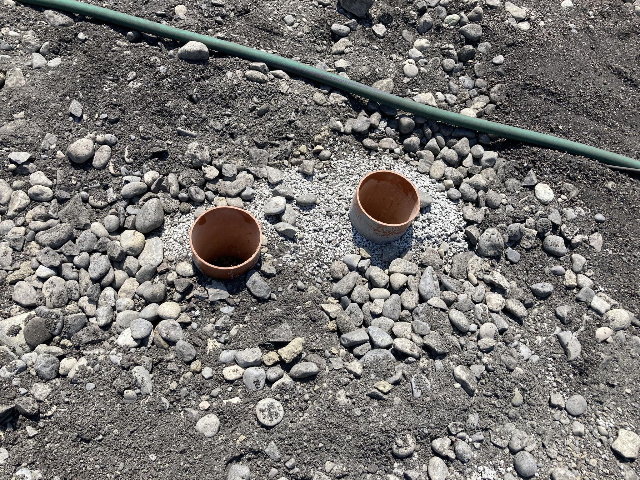 Bewässerungssystem auf Platz