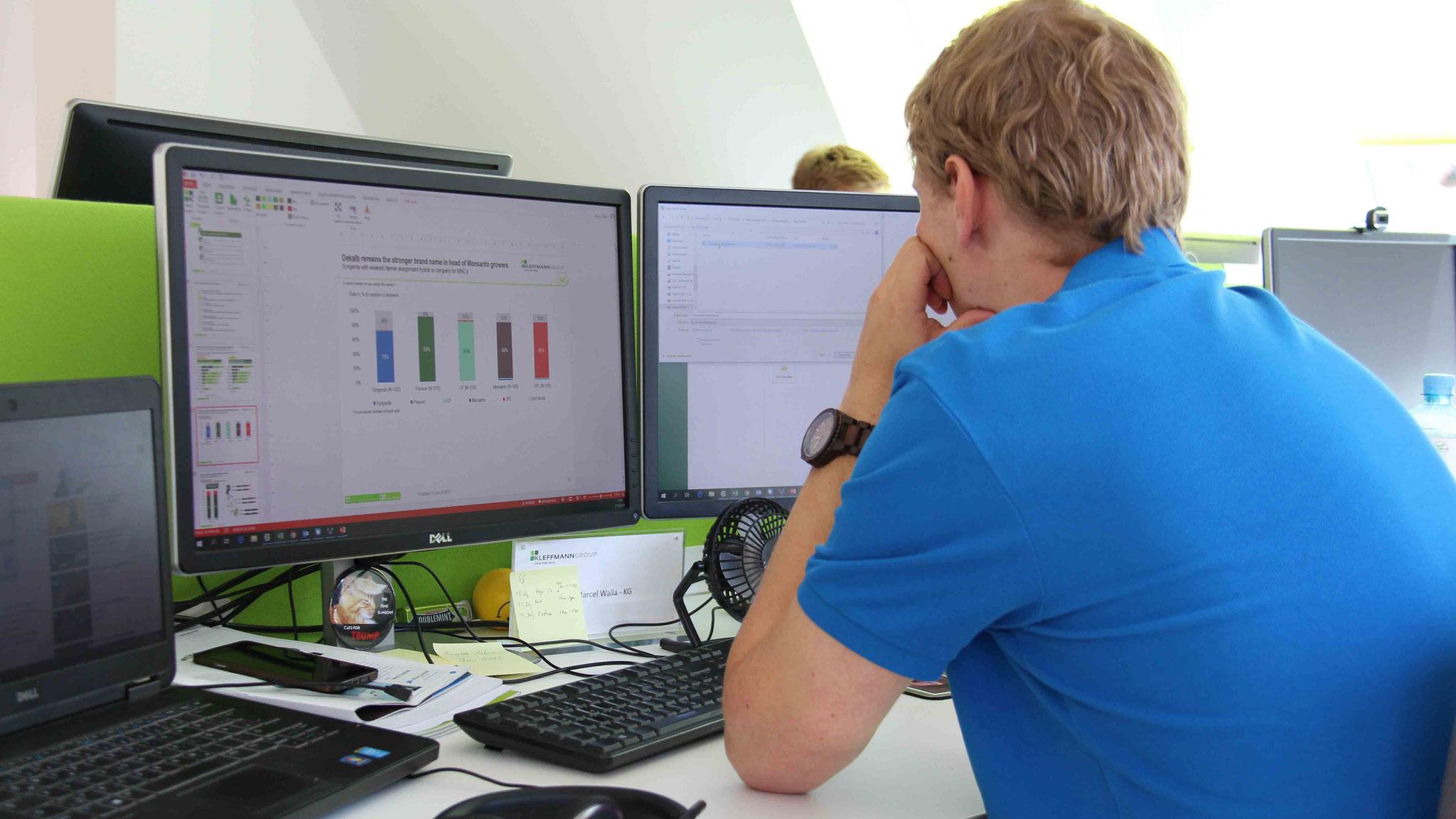 Geoinformatiker und Webentwickler gehören seit der Entwicklung des neuen, digitalen Geschäftsbereichs auch zu den Mitarbeitern