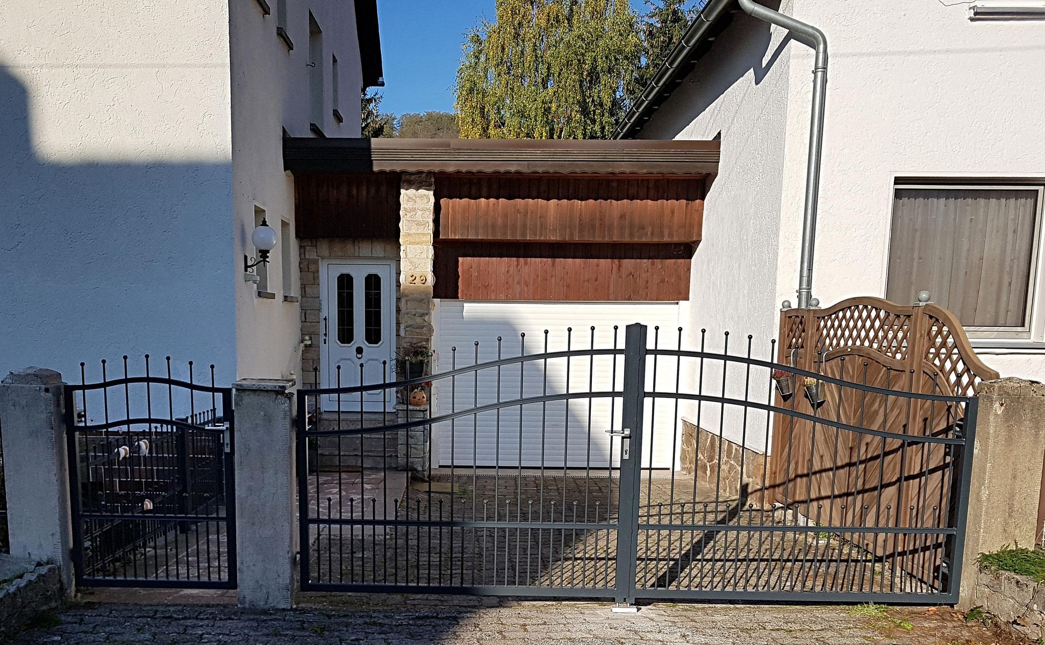 Tor und Tür mit Hespeneisen, feuerverzinkt und pulverbeschichtet