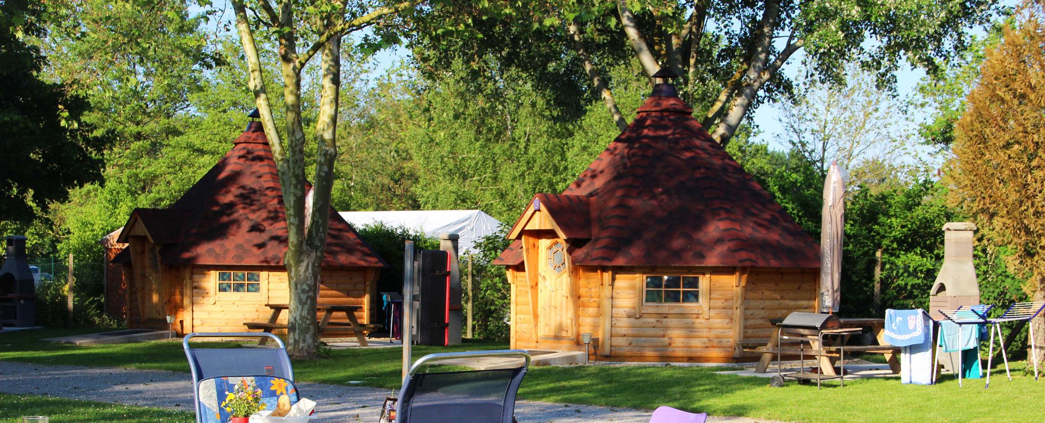 Ungewöhnliche Hütten im Elsass