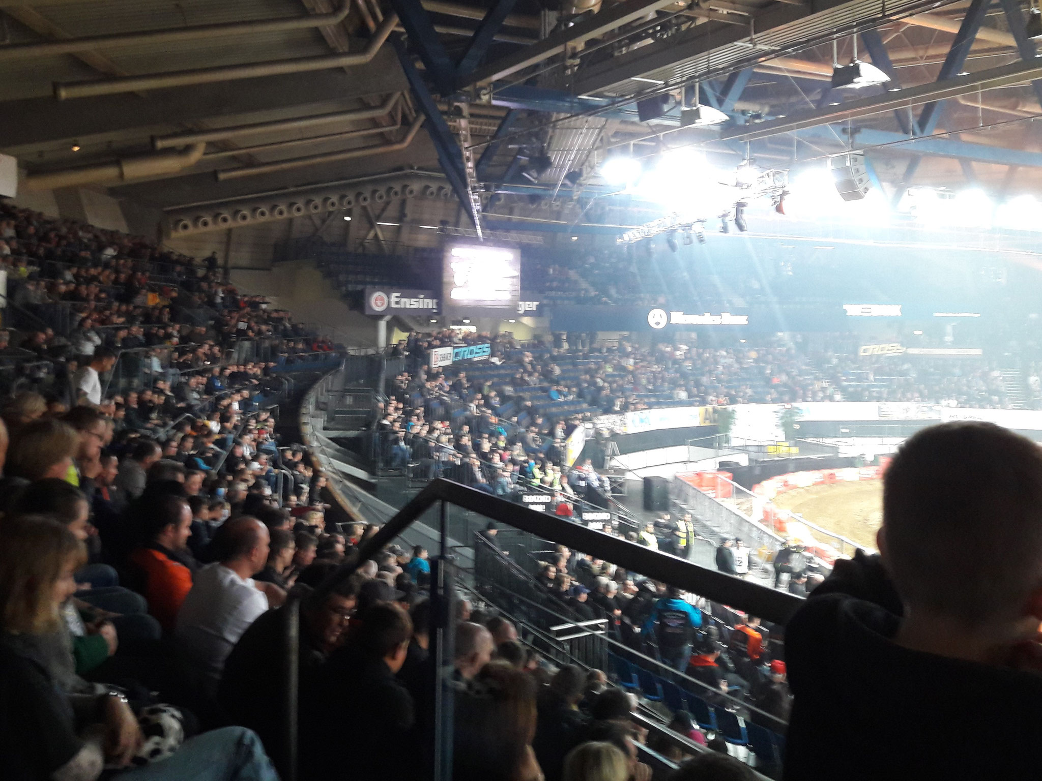The full house in Stuttgart does not help to calm down;)