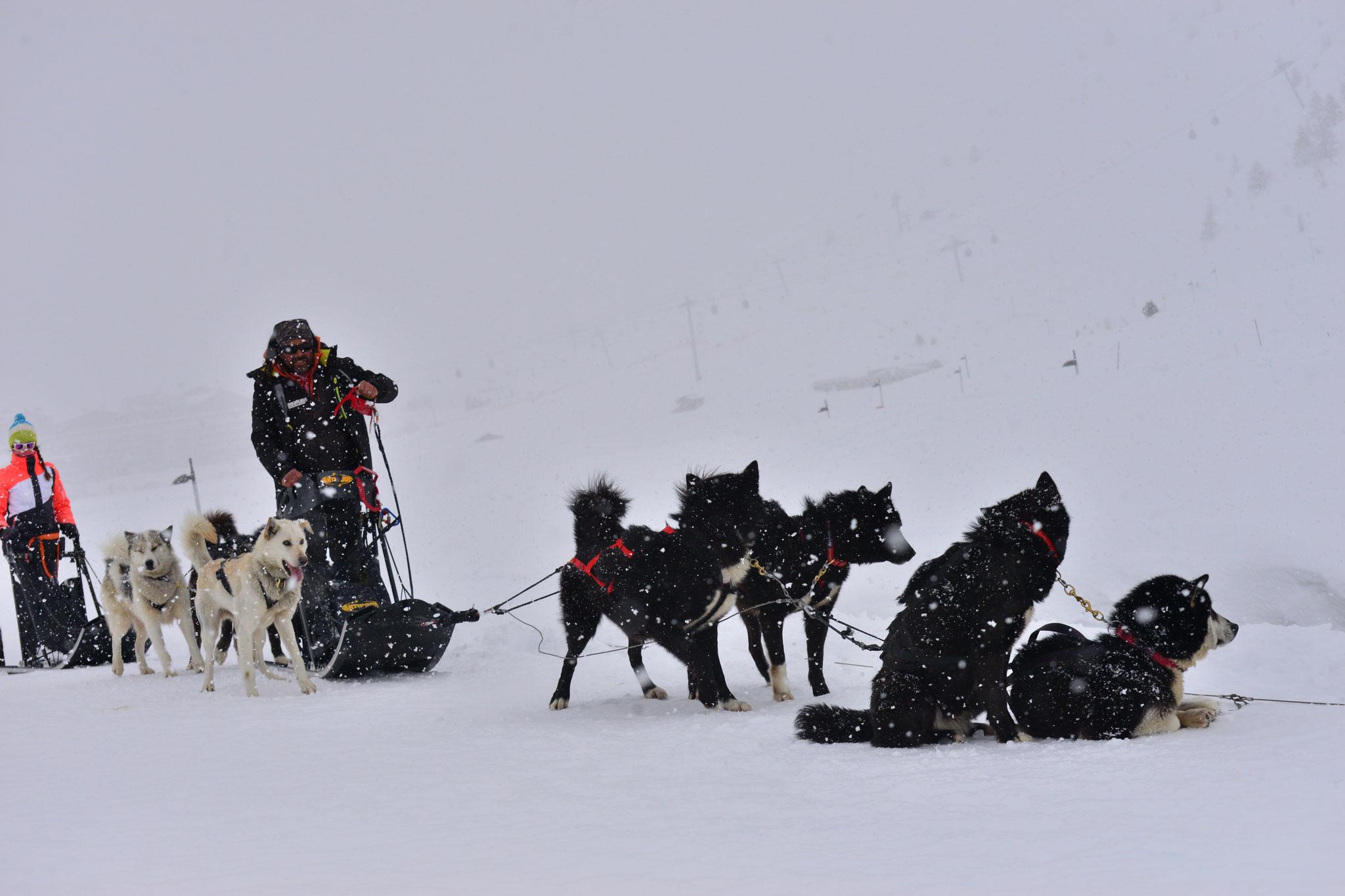 Départ sous la neige...
