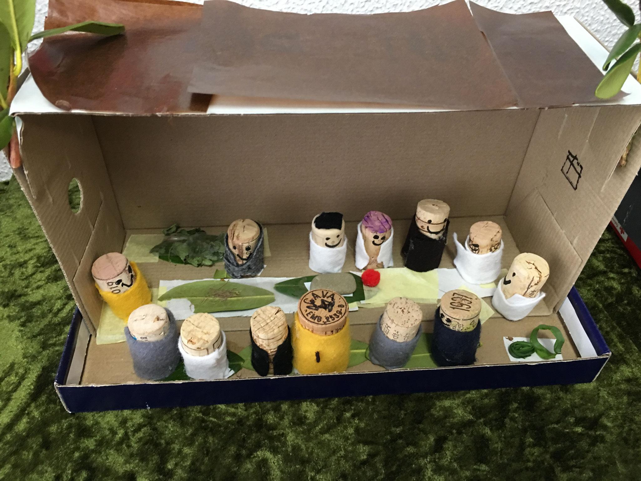 Jesus feiert das letzte Abendmahl mit seinen Jüngern