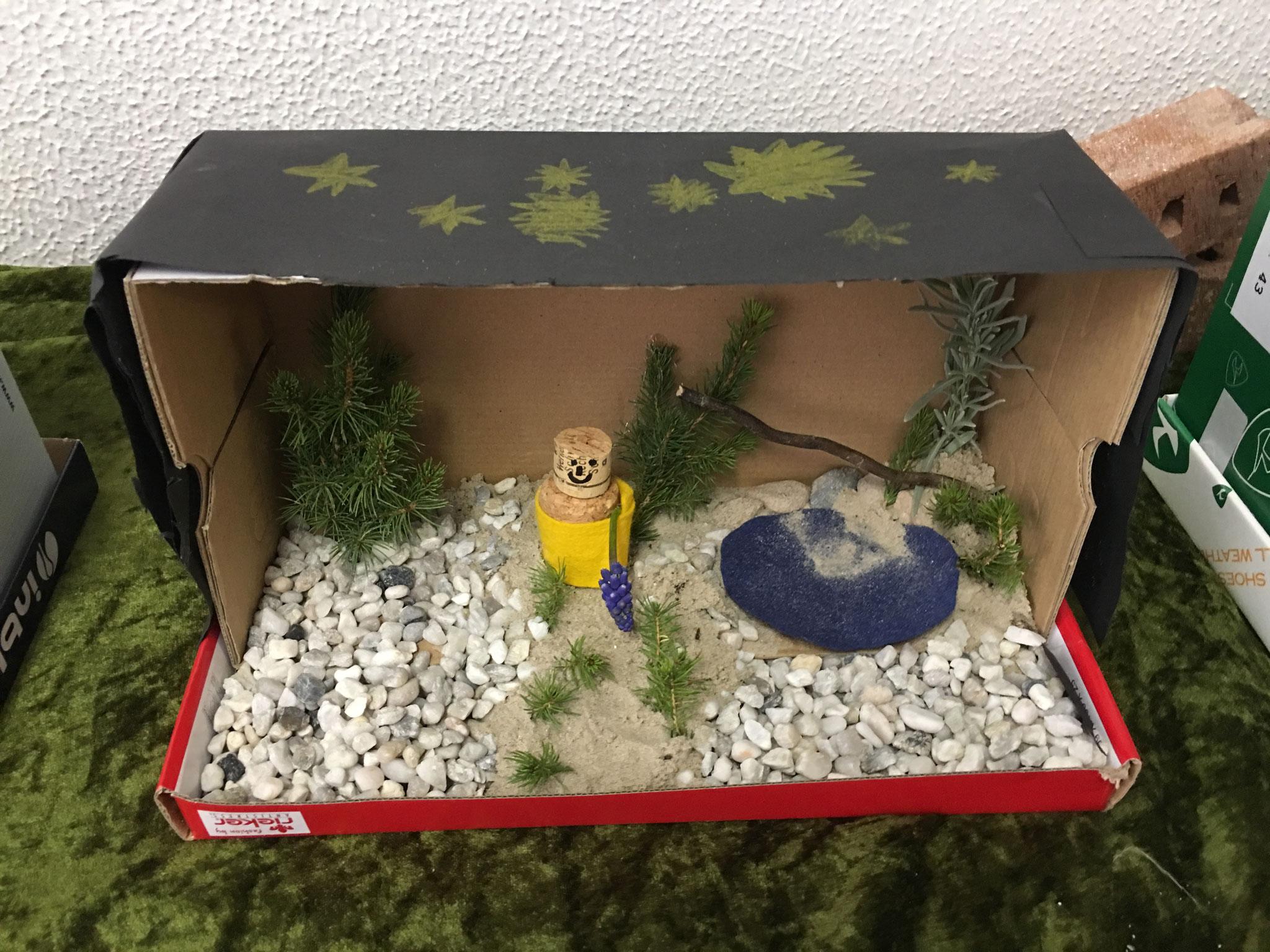 Jesus geht in den Garten, um zu beten