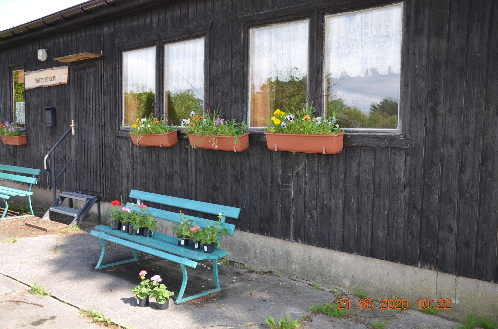 Blumenkästen am 21.06.2020 neu bepflanzt