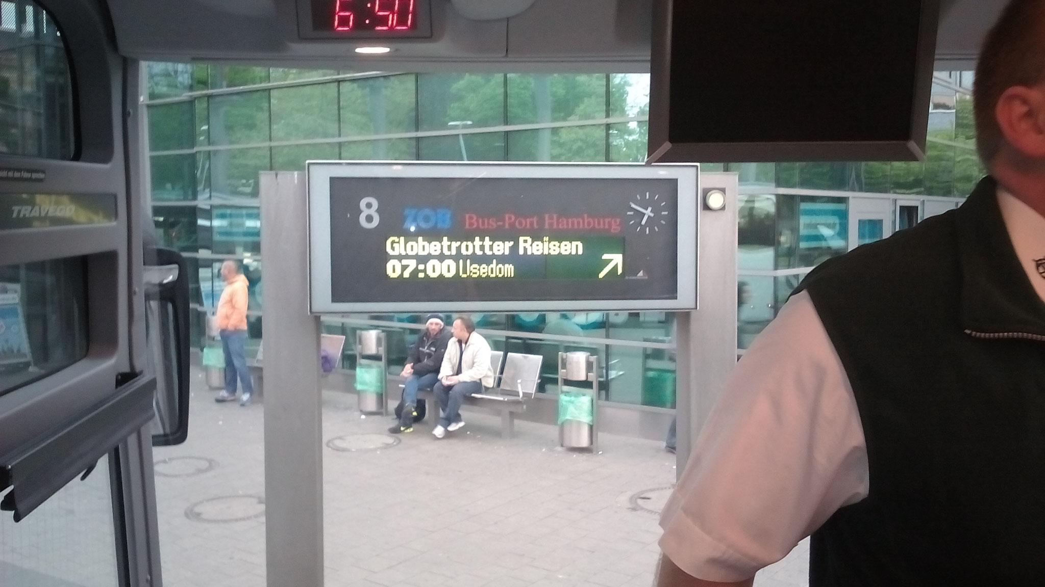 Anreise von ZOB Hamburg