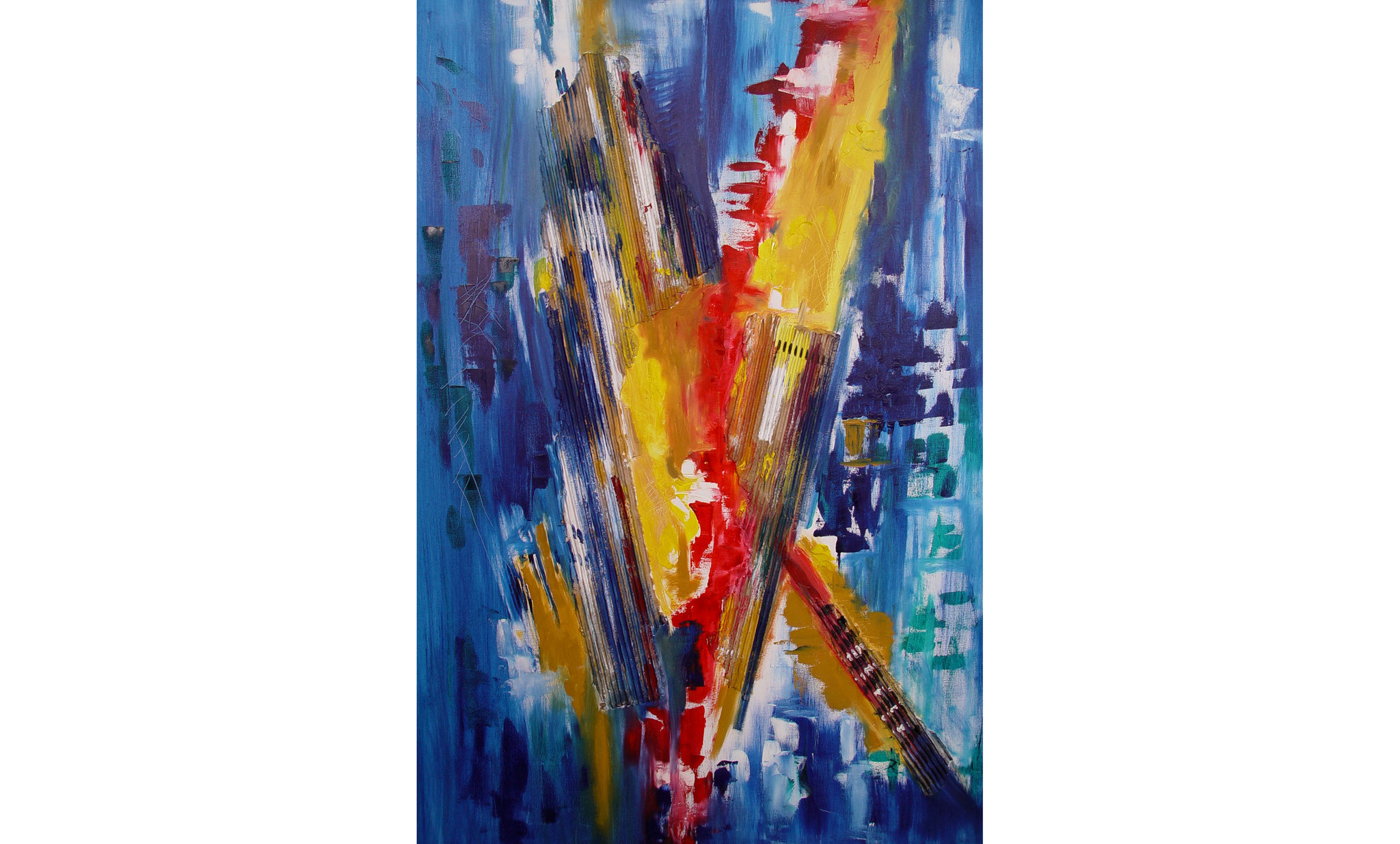 """Aufbruch"" Öl auf Leinwand, 70x100 cm"