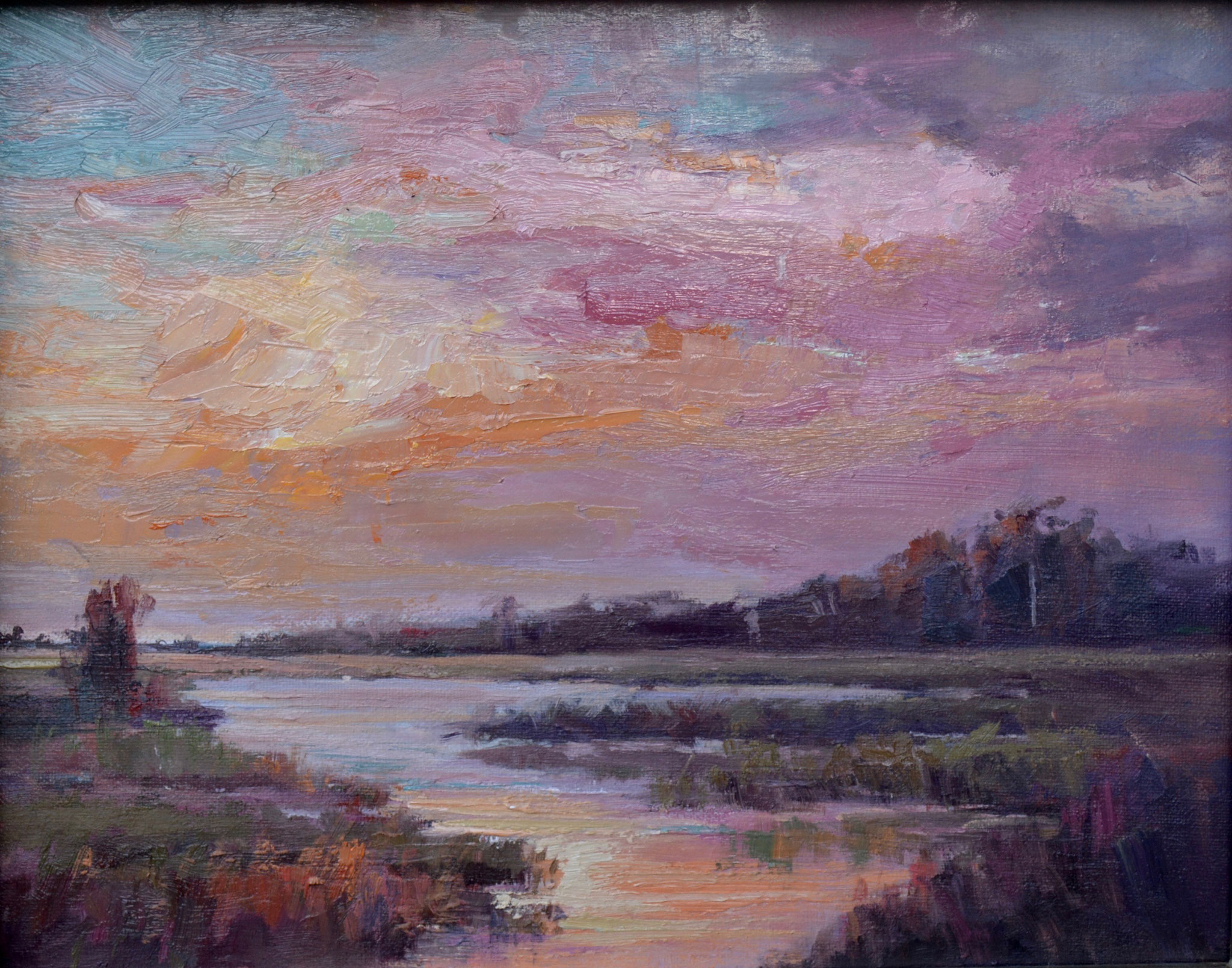 AUTUMN SUNSET 14X11 OIL