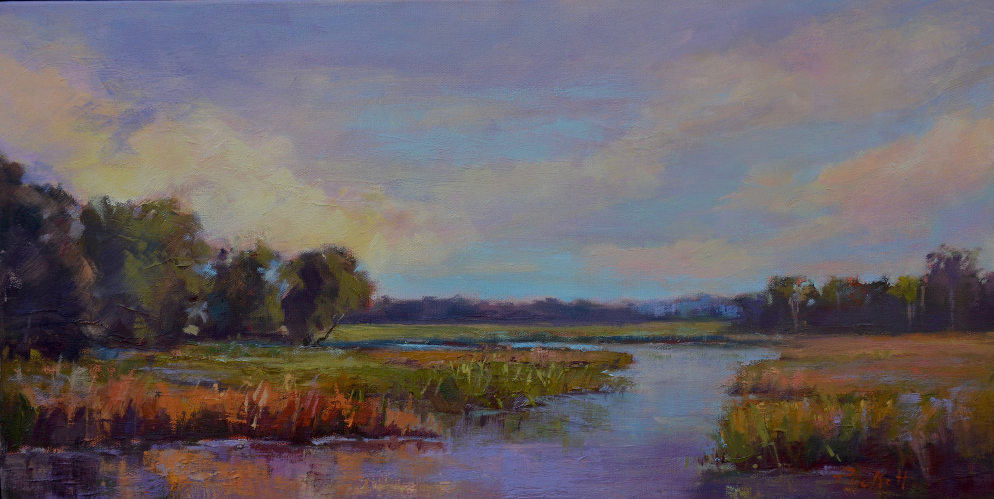 OCTOBER MARSH II, OIL 24X12
