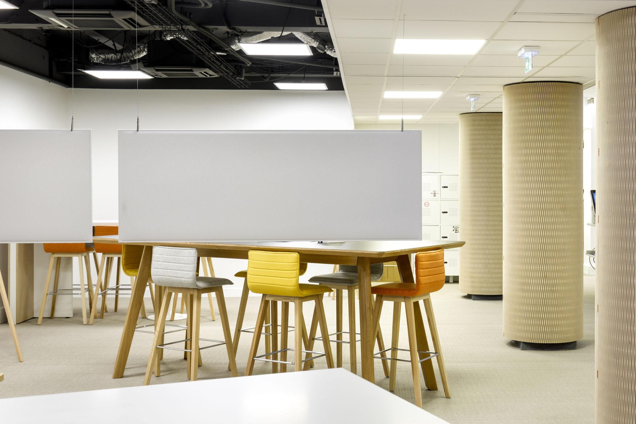 le panneau acoustique permet de créer de l'intimité et concentration dans un espace ouvert de travail