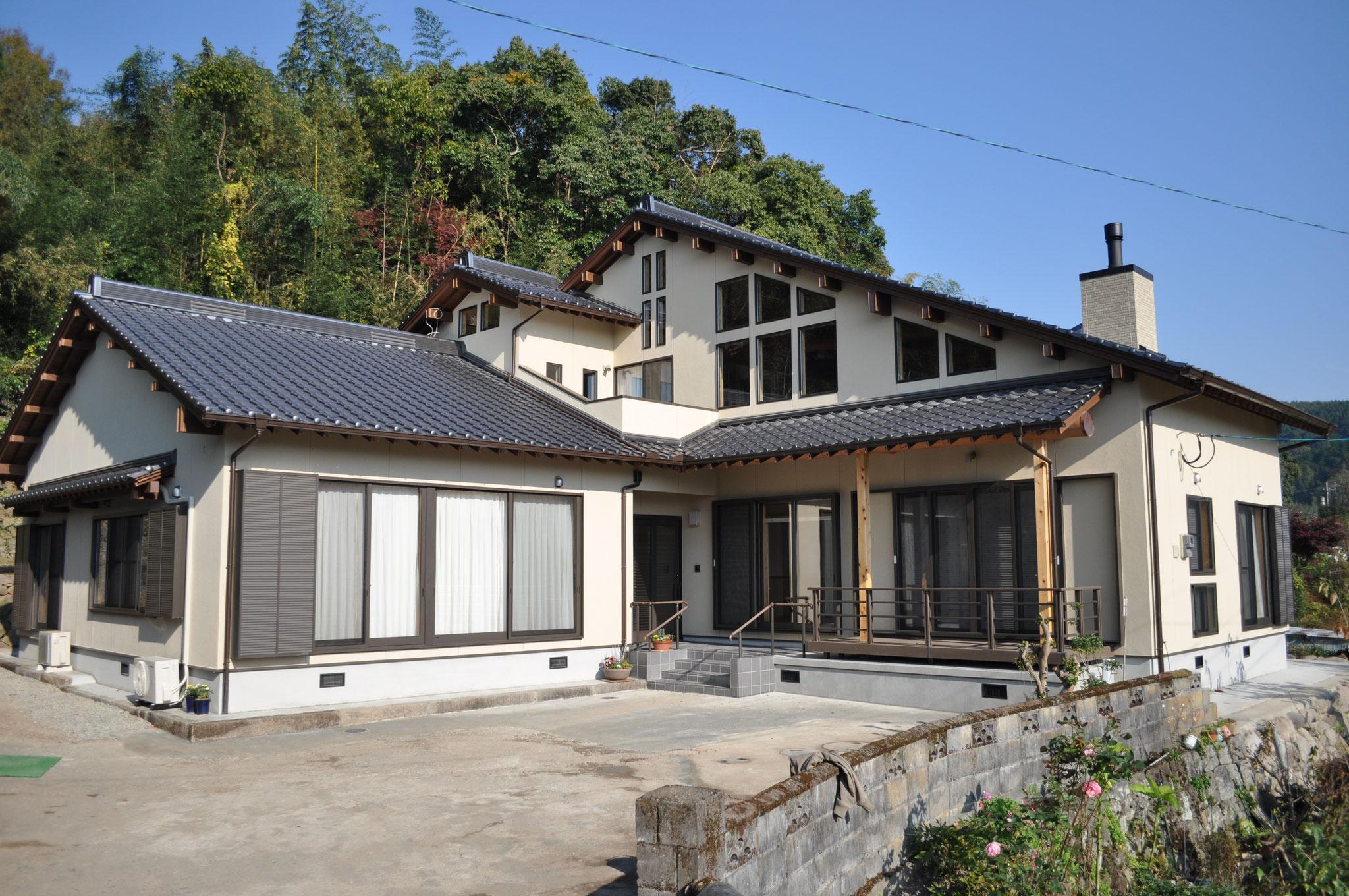 自然素材の家