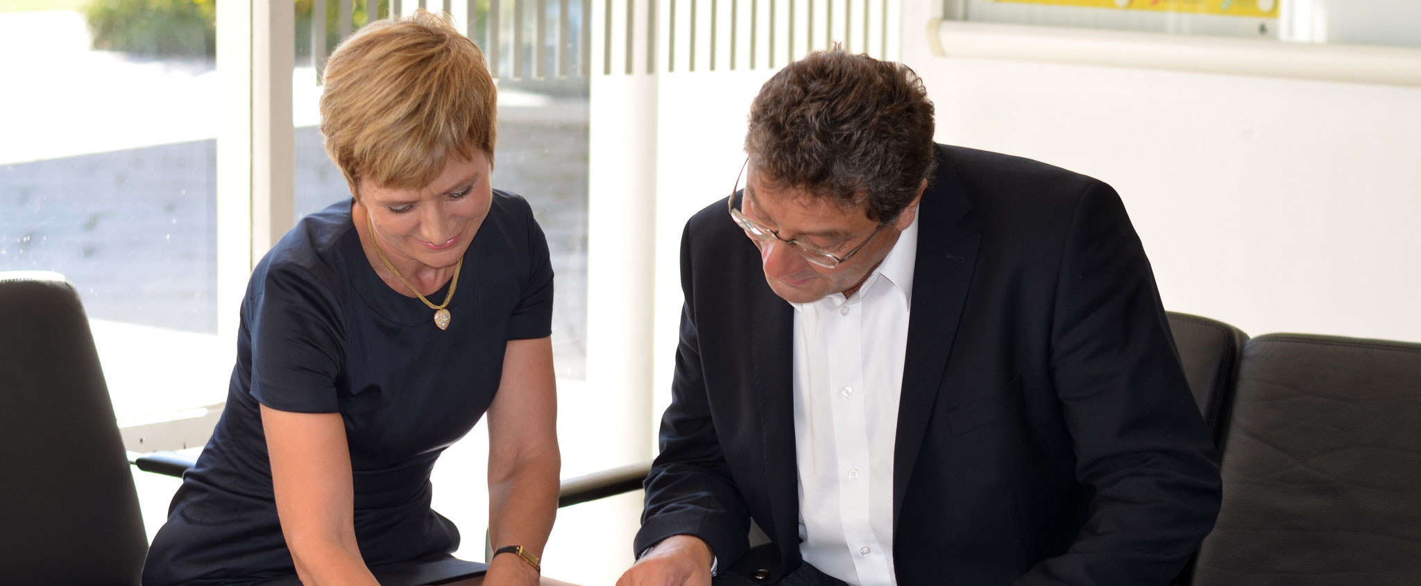 Elke Kirchner berät Unternehmer